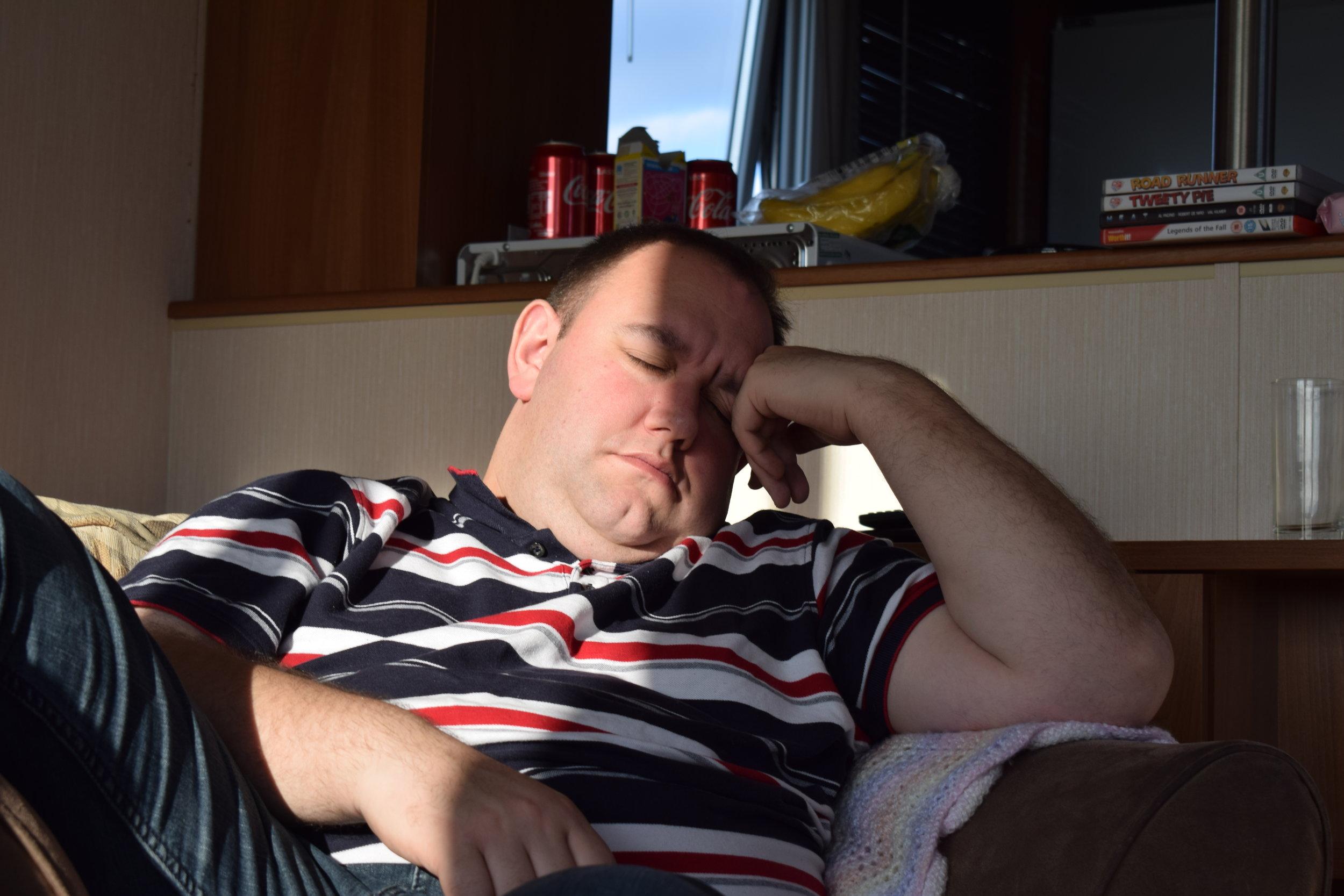 sleeping husband