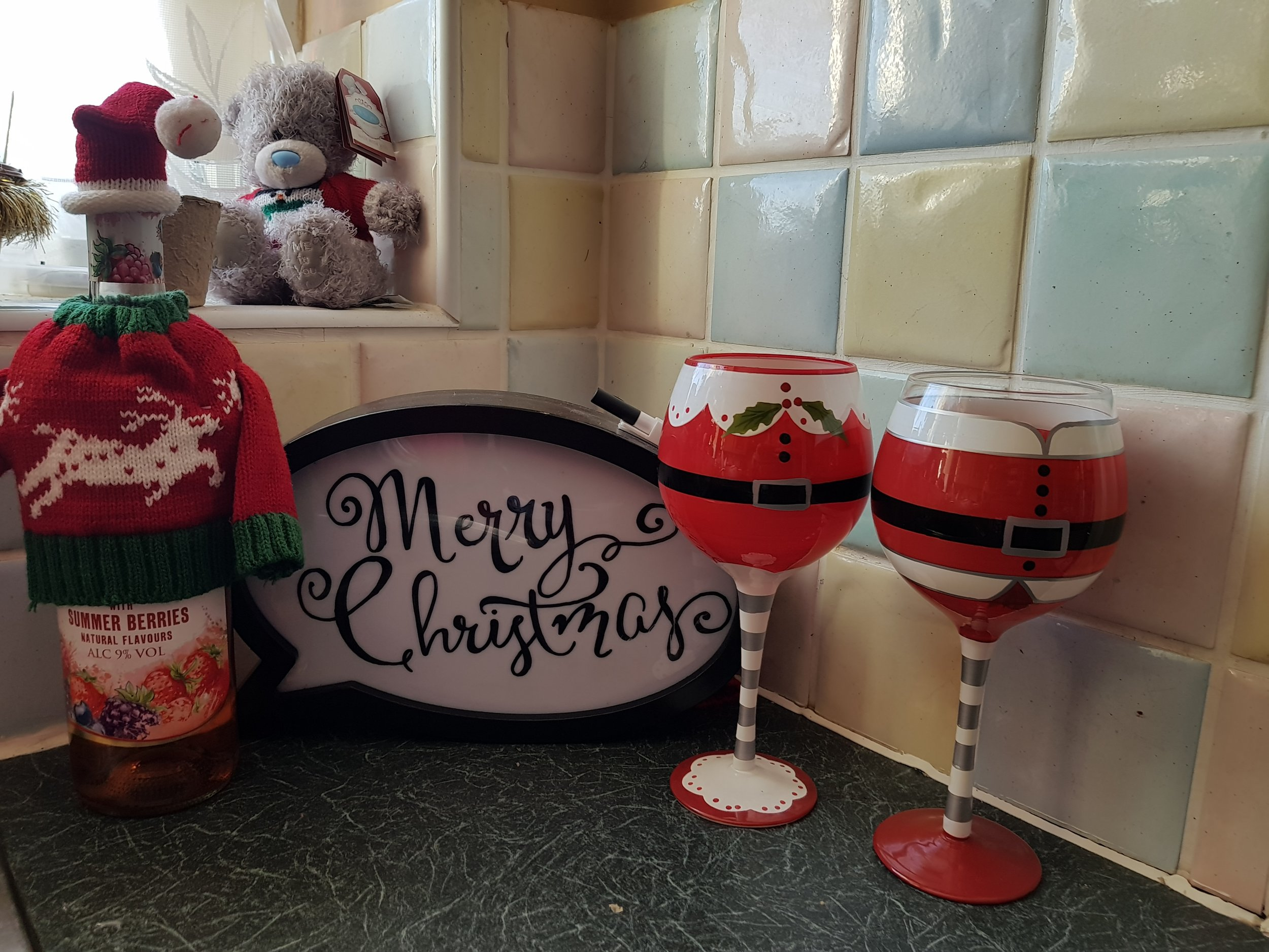 Gingersnap Light Box and Christmas wine gear