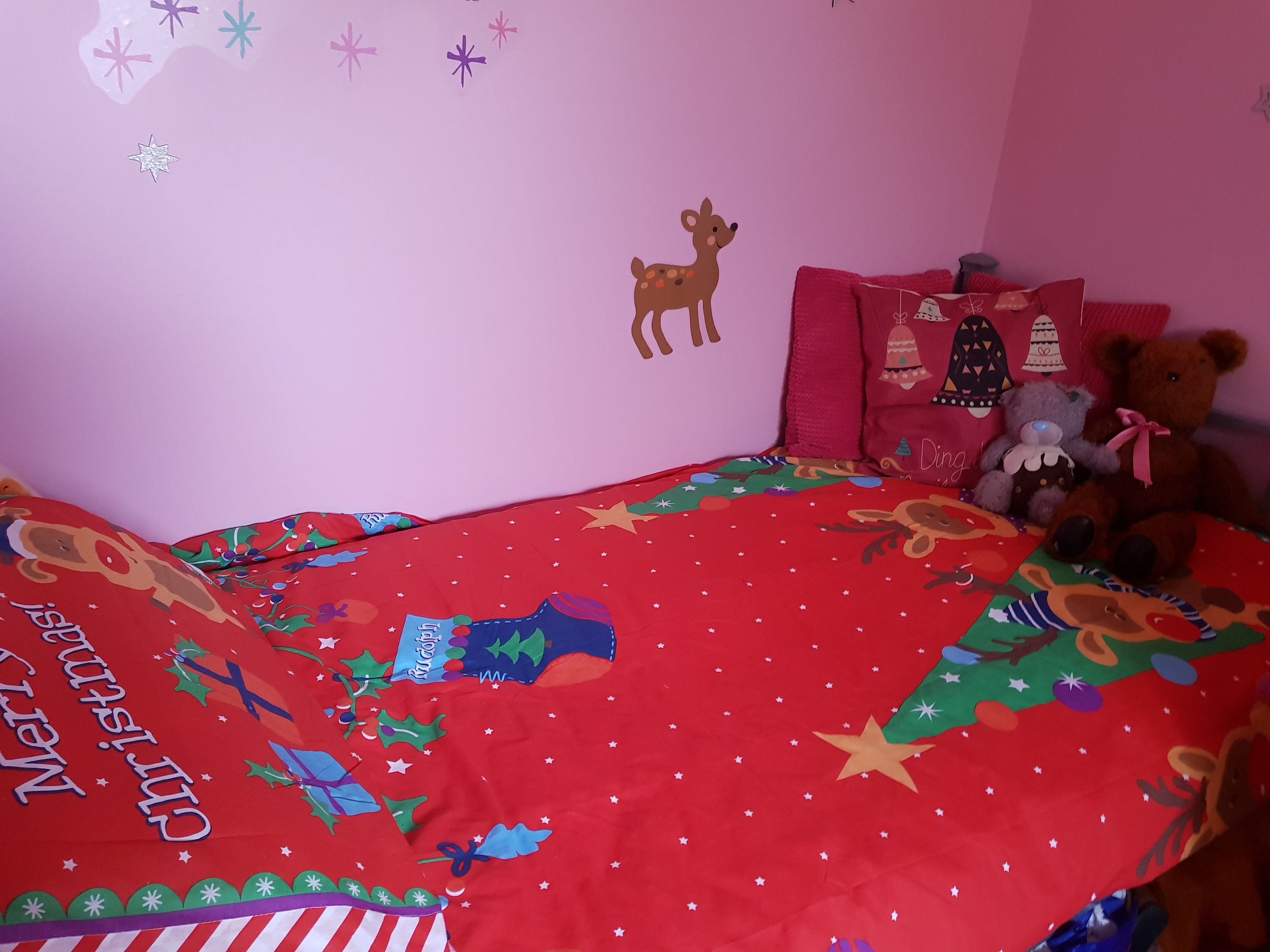 Christmas reindeer bed linen