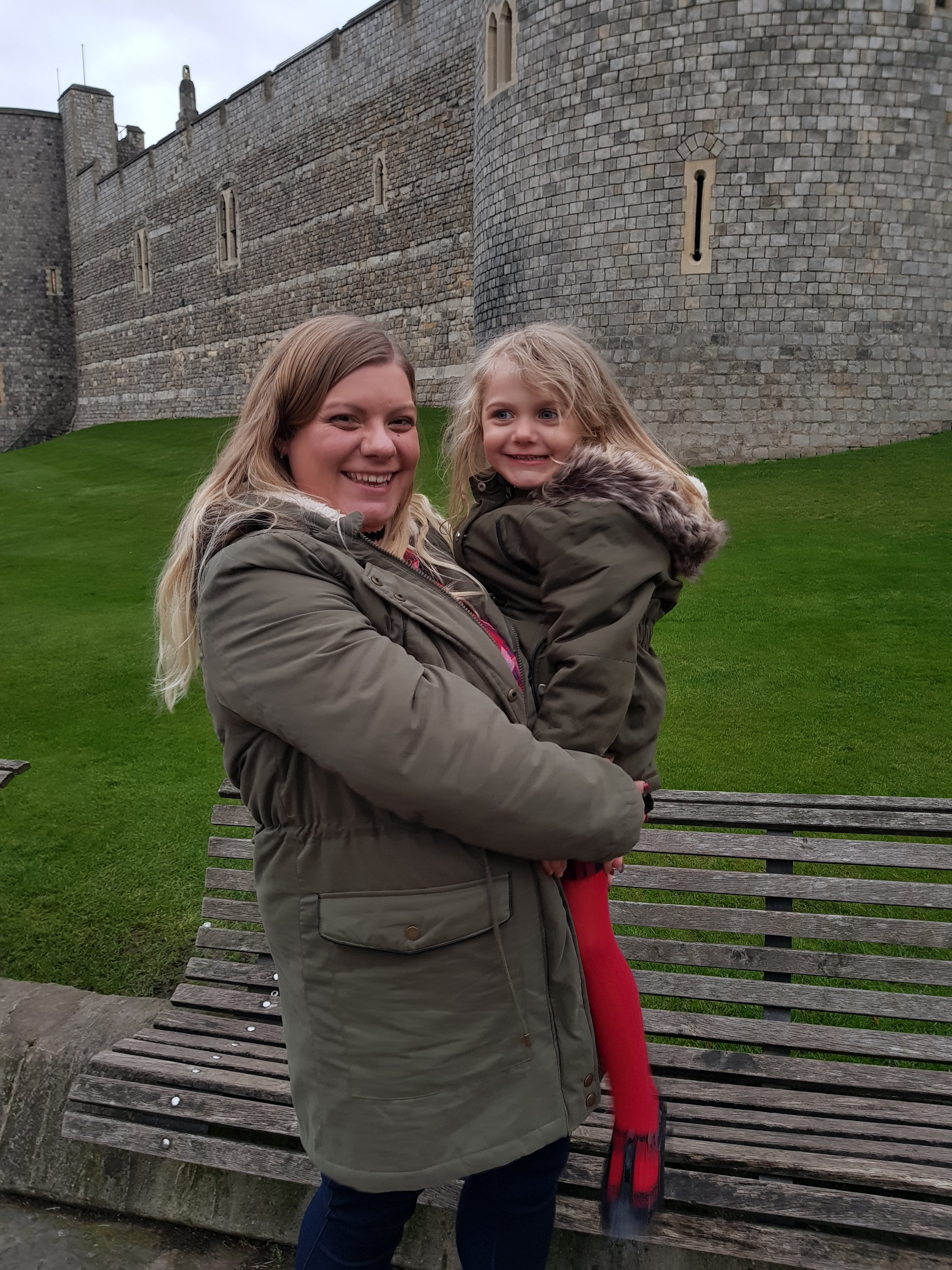 Squidgy and me outside Windsor Castle ready for the Windsor Theatre Royal panto 2017-2018