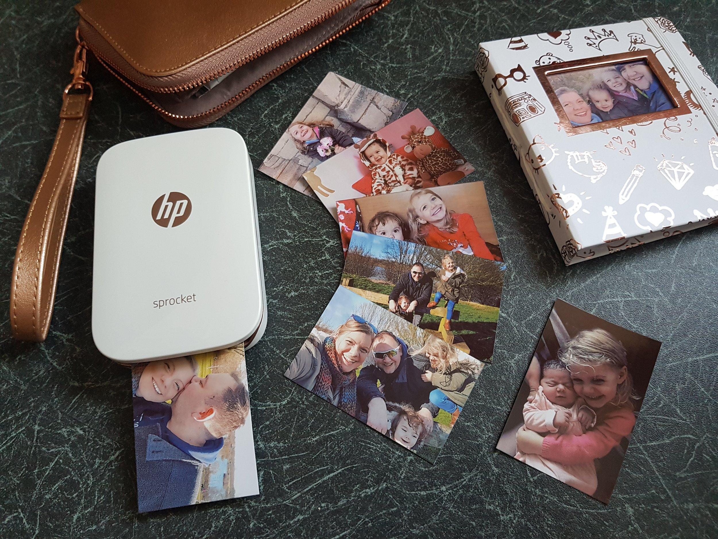 HP Sprocket family photo printing
