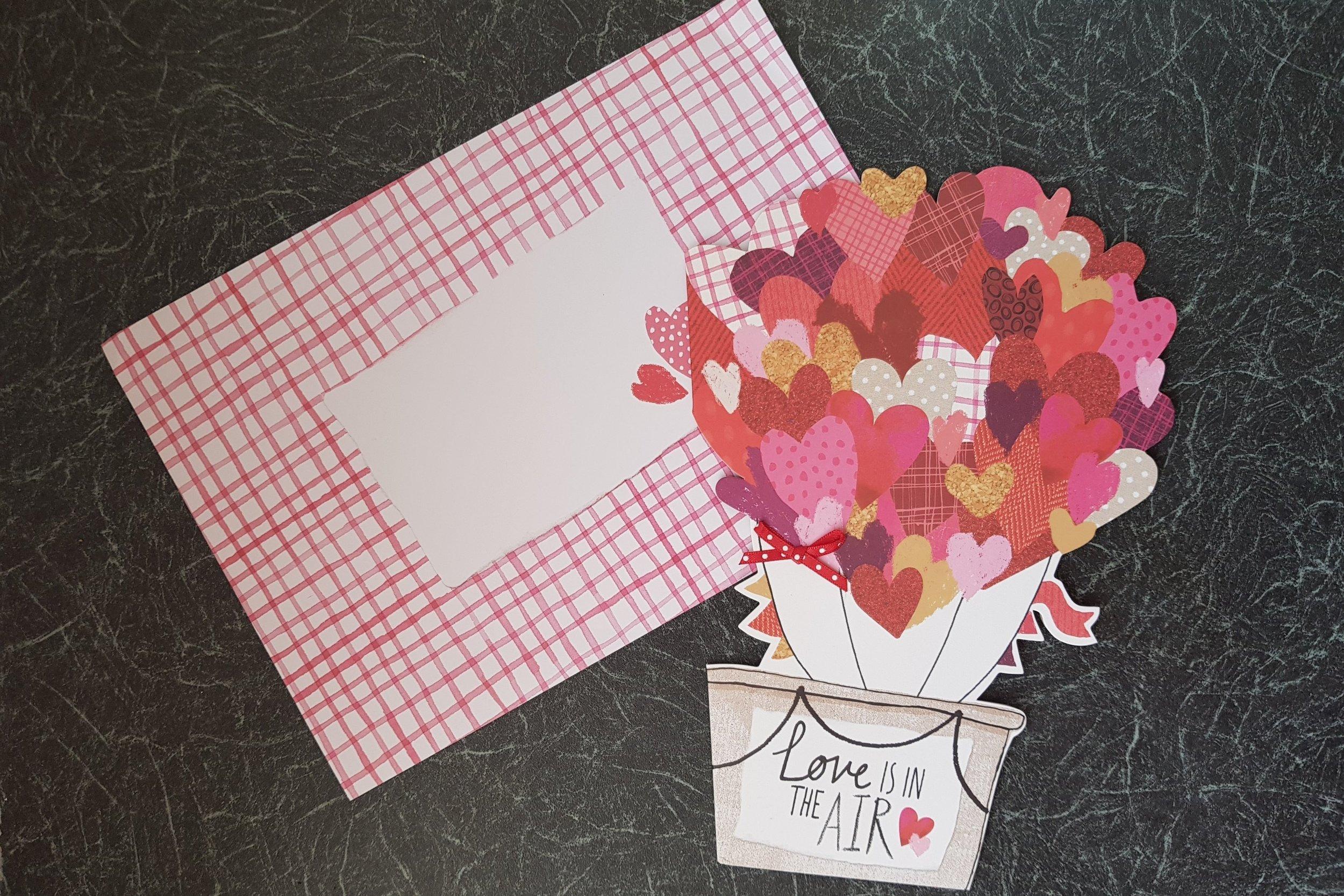 Love is in the air hot air balloon Hallmark card