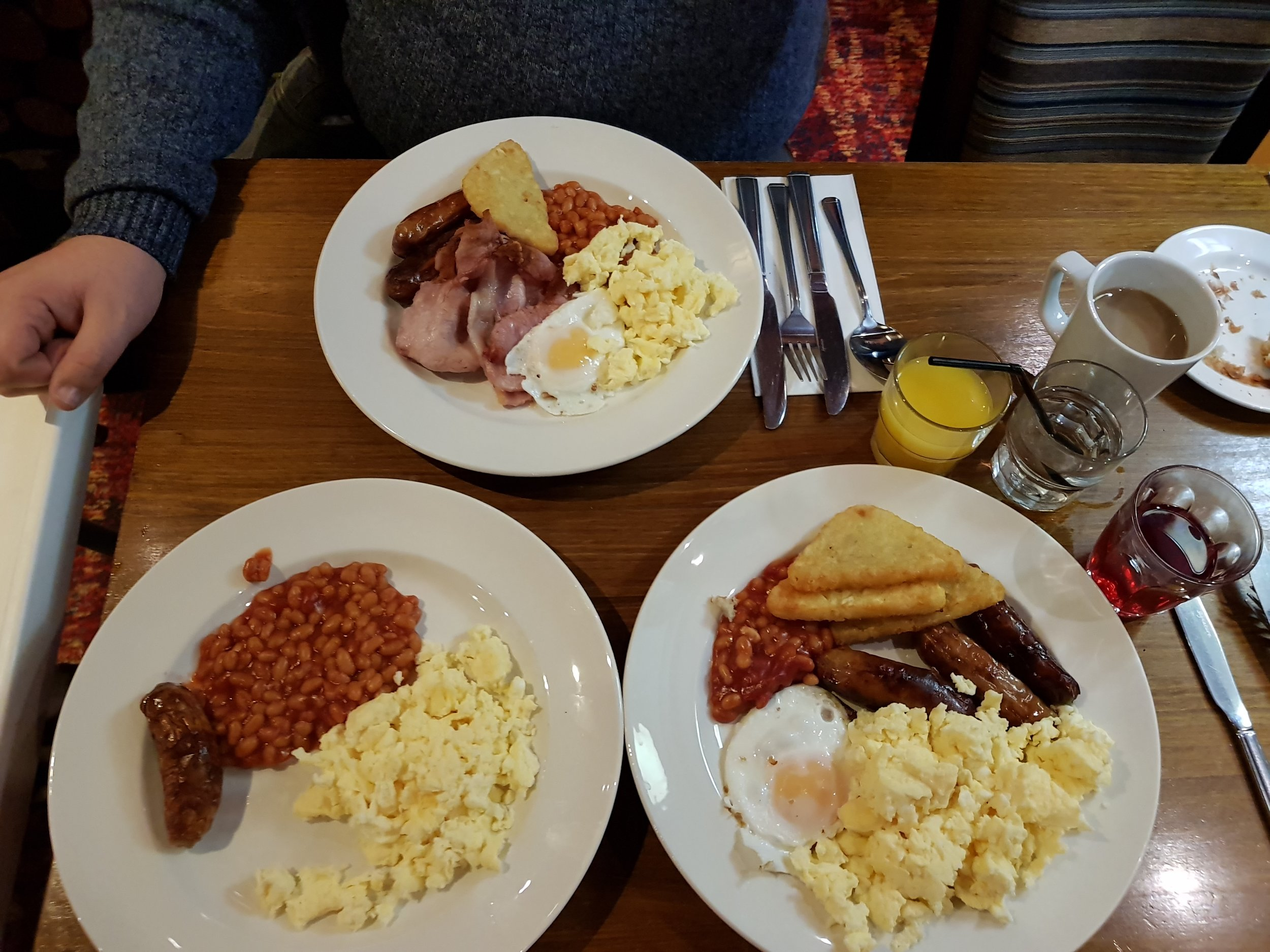 All you can eat cooked breakfast at Table Table Paul Pry