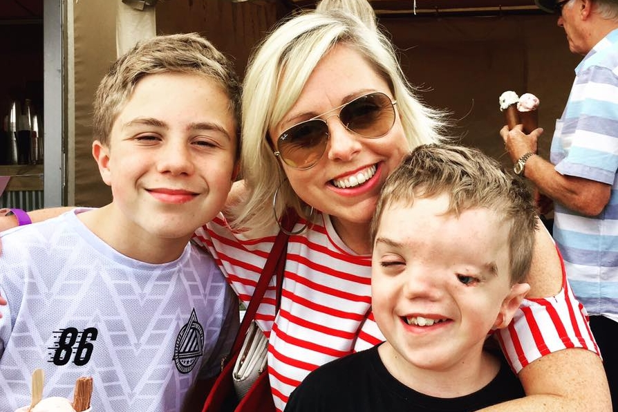 Charlie from Our Altered Life and her beautiful twin sons