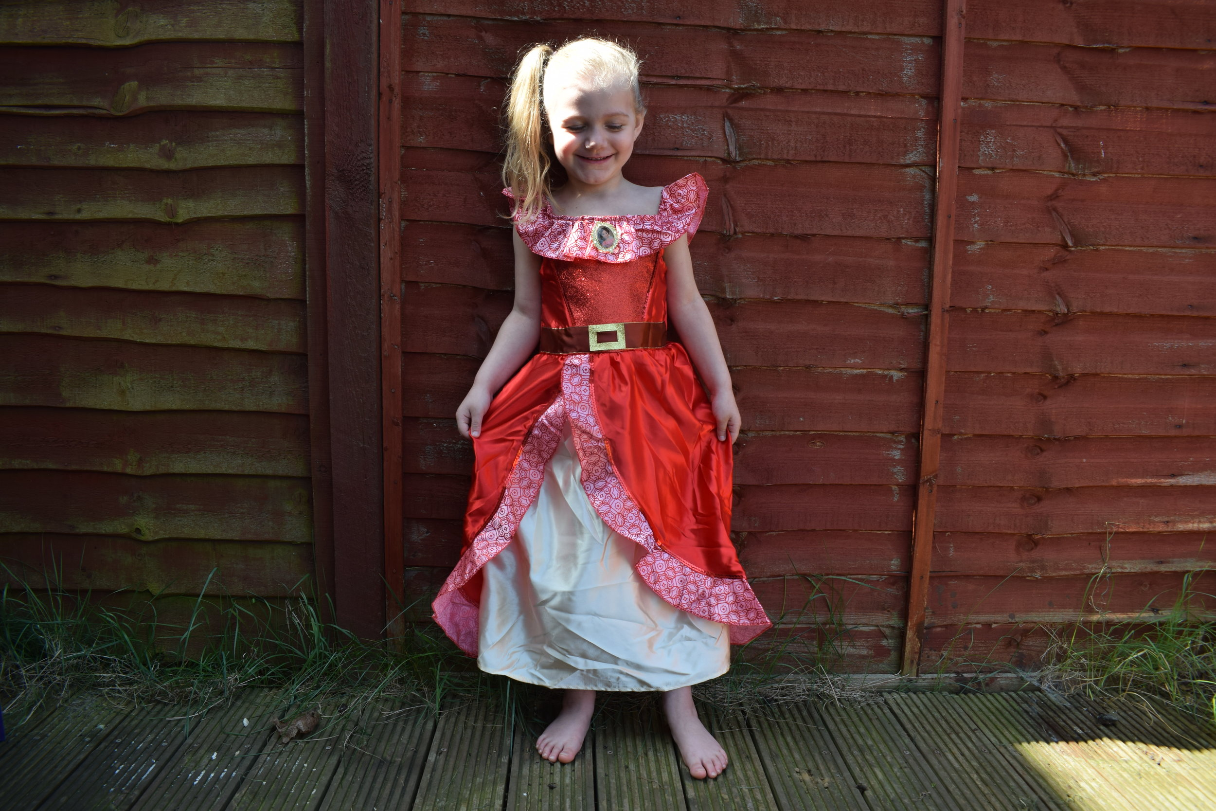 Elena of Avalor outfit from Vegaoo looking awesome on Squidgy