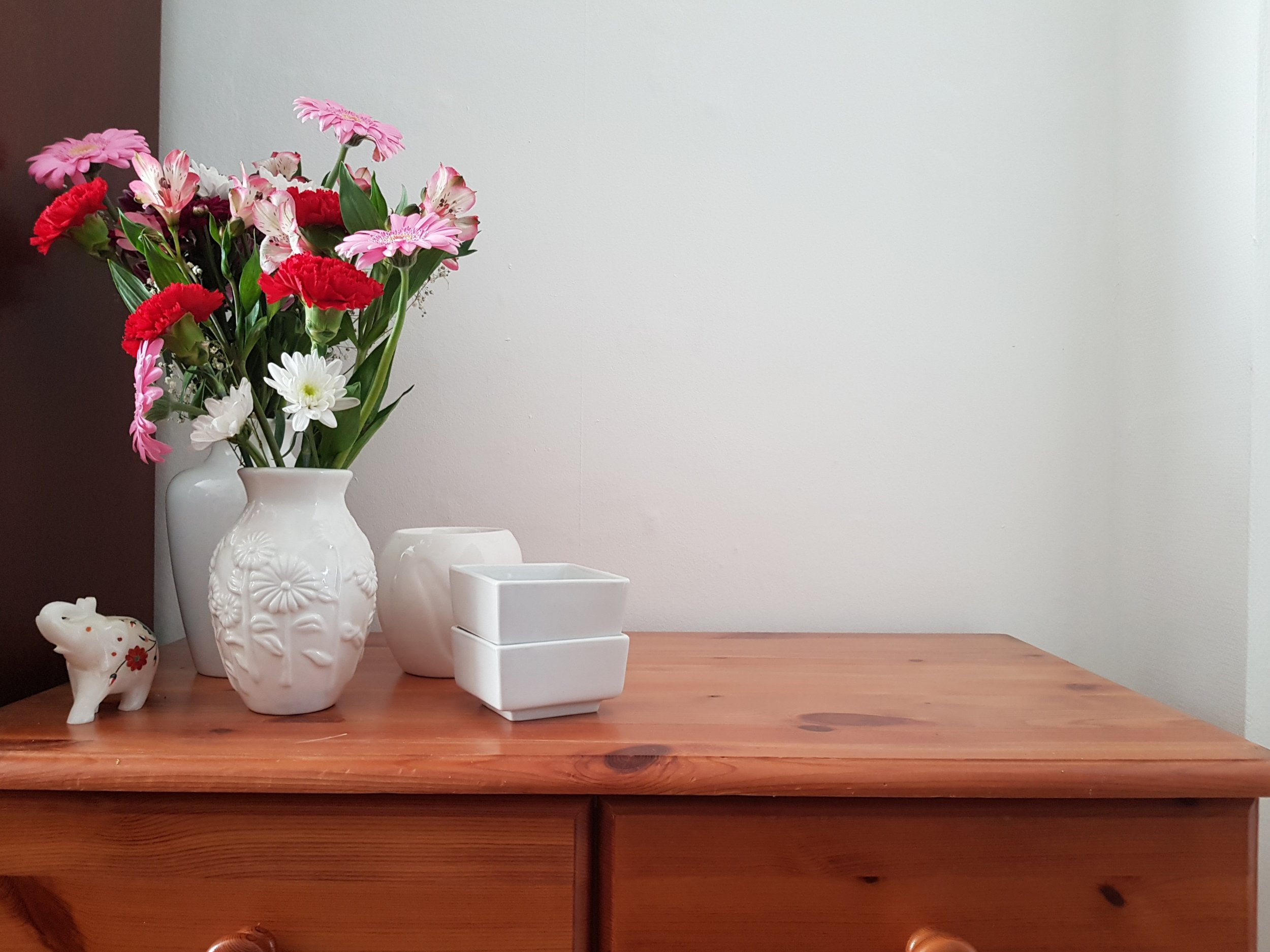 Adding a splash of colour to your home with flowers without needing to paint