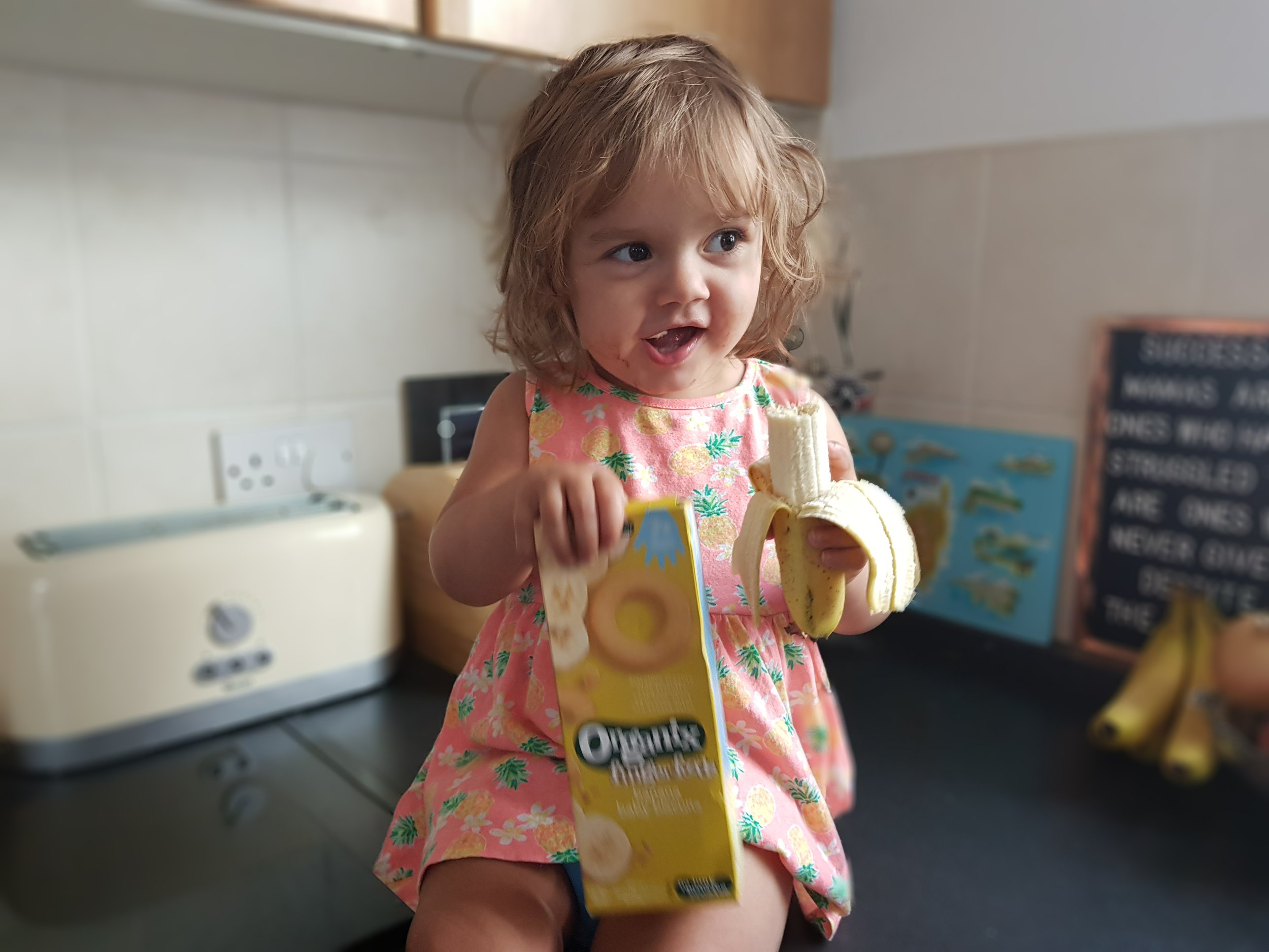 Organic finger foods banana baby biscuits