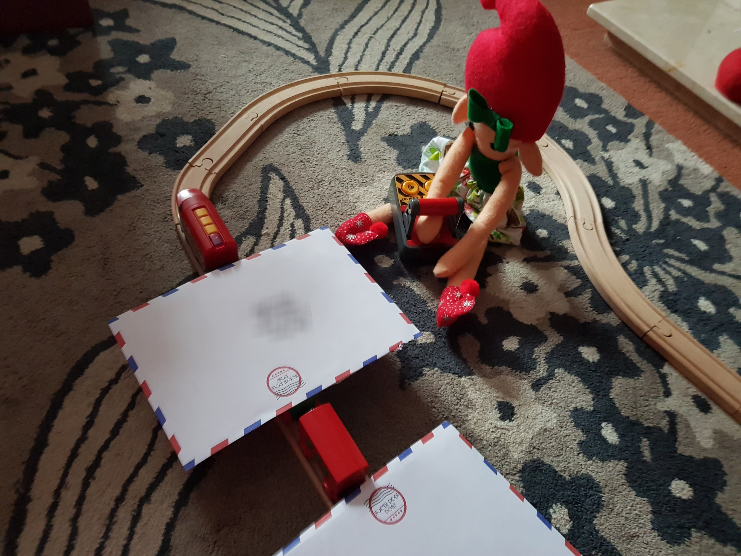 Elf on a Shelf December 2nd Train and Letters from Santa