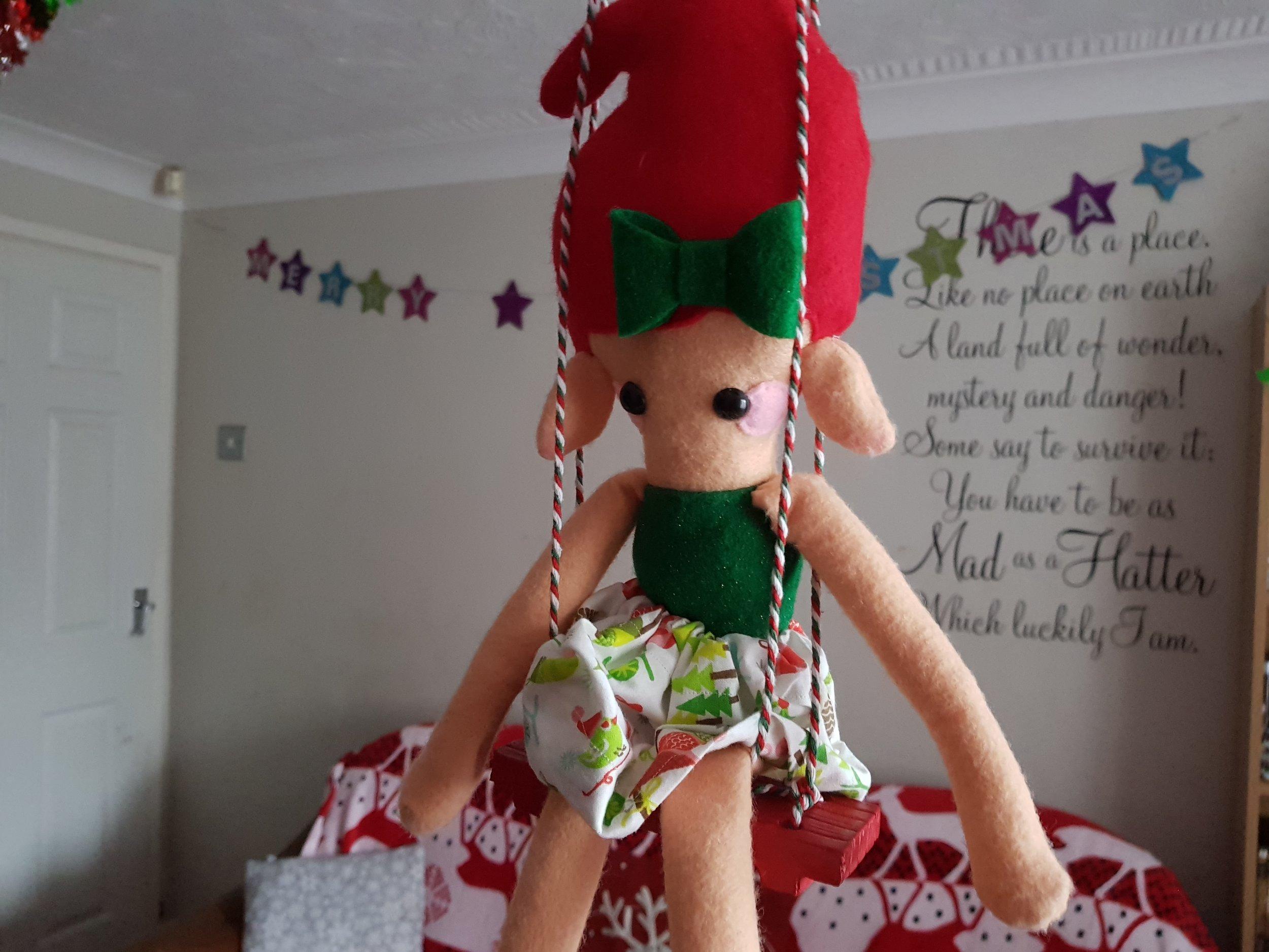 Elf on a Shelf December 3rd Swing