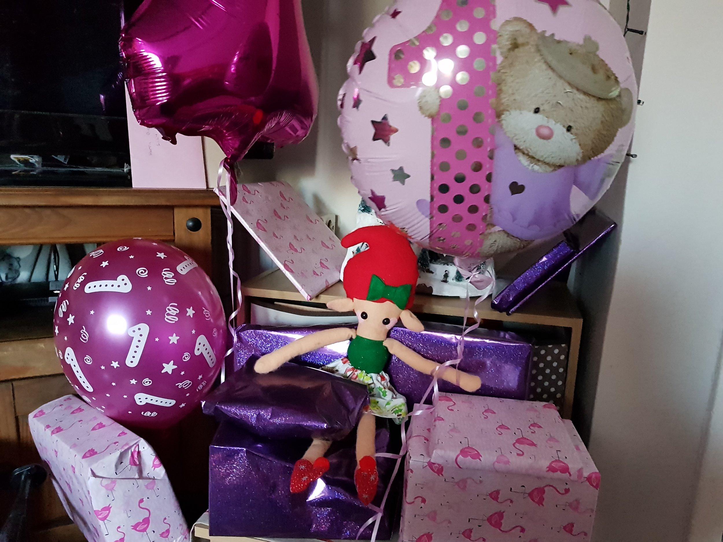 Elf on a Shelf December 15th Happy Birthday Pickle