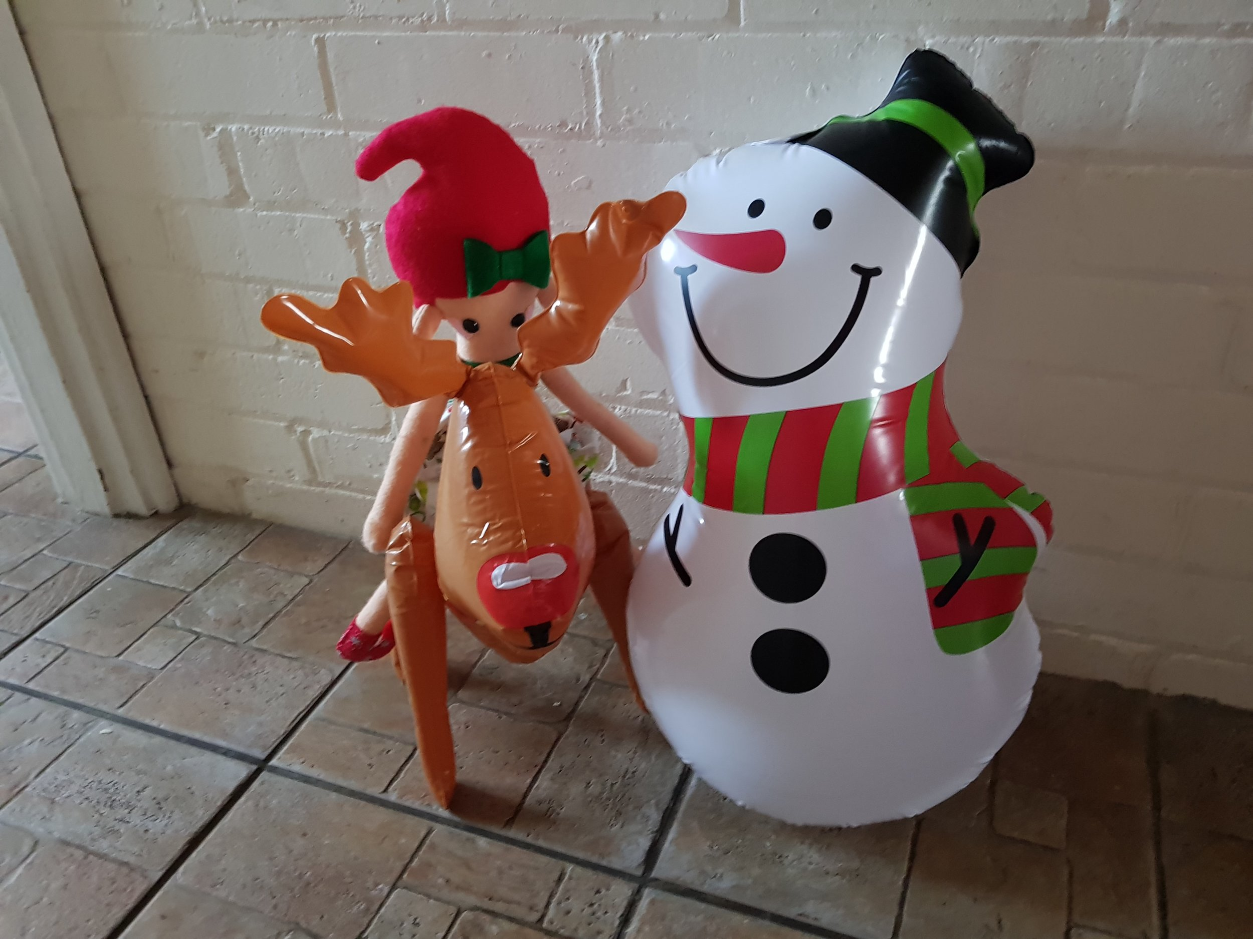 Elf on a Shelf December 16th Blow Up Christmas Characters