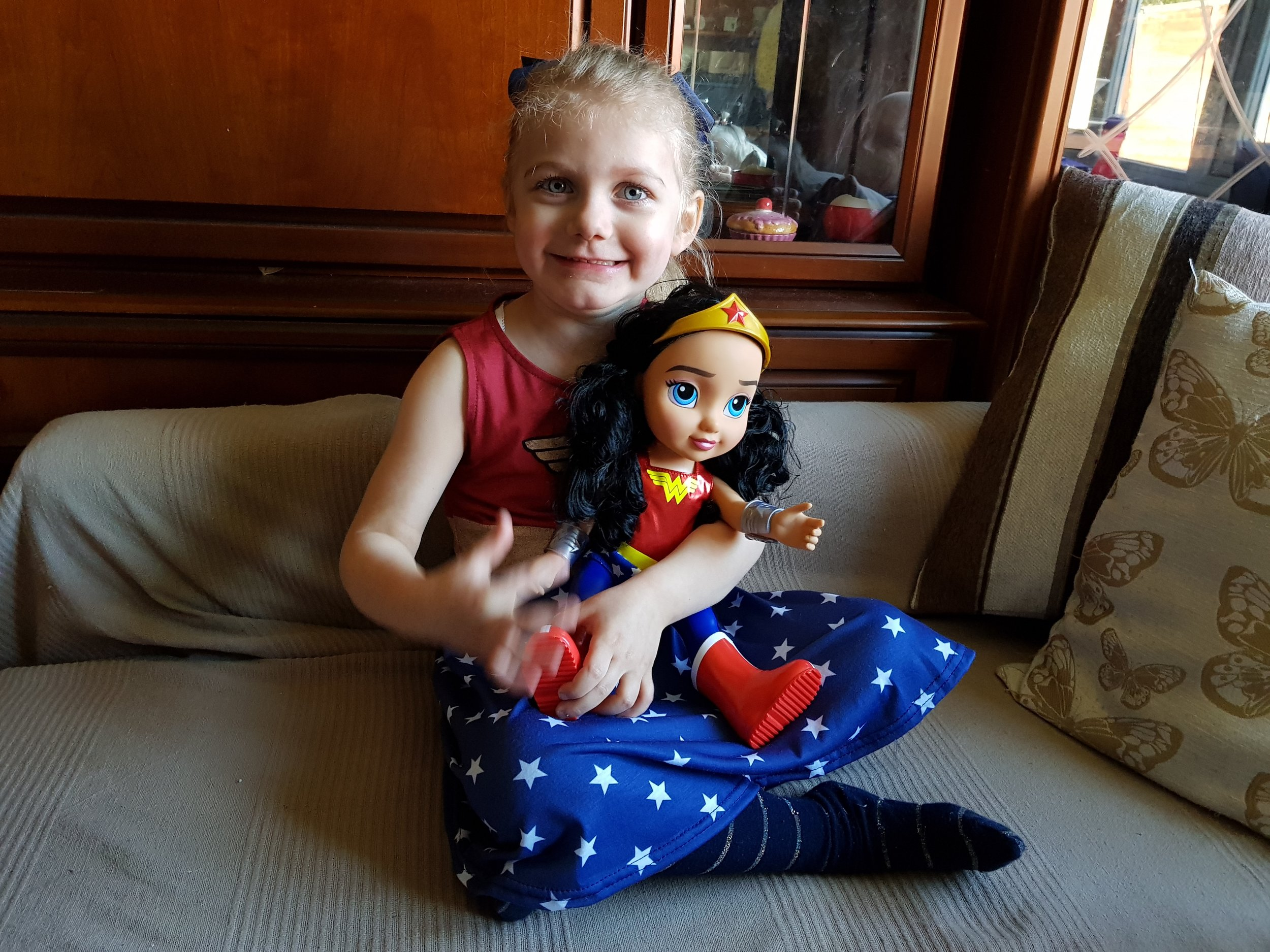 Superhero birthday party Wonder Woman fourth birthday