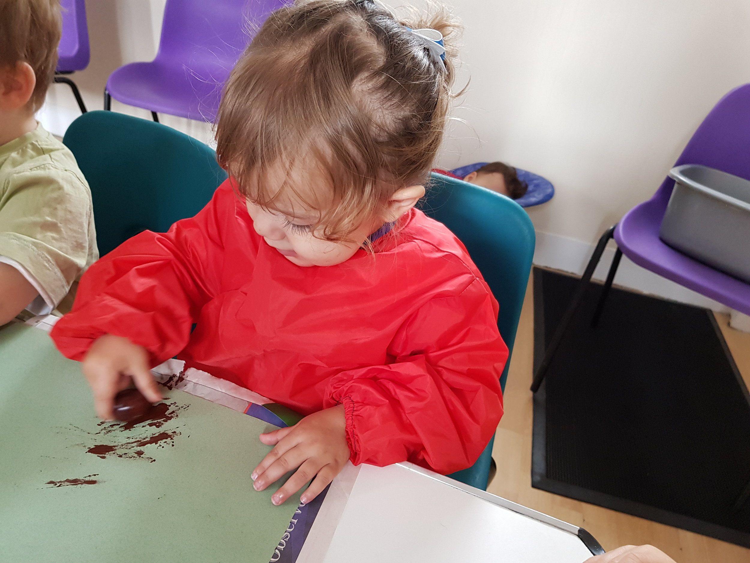 painting with conkers