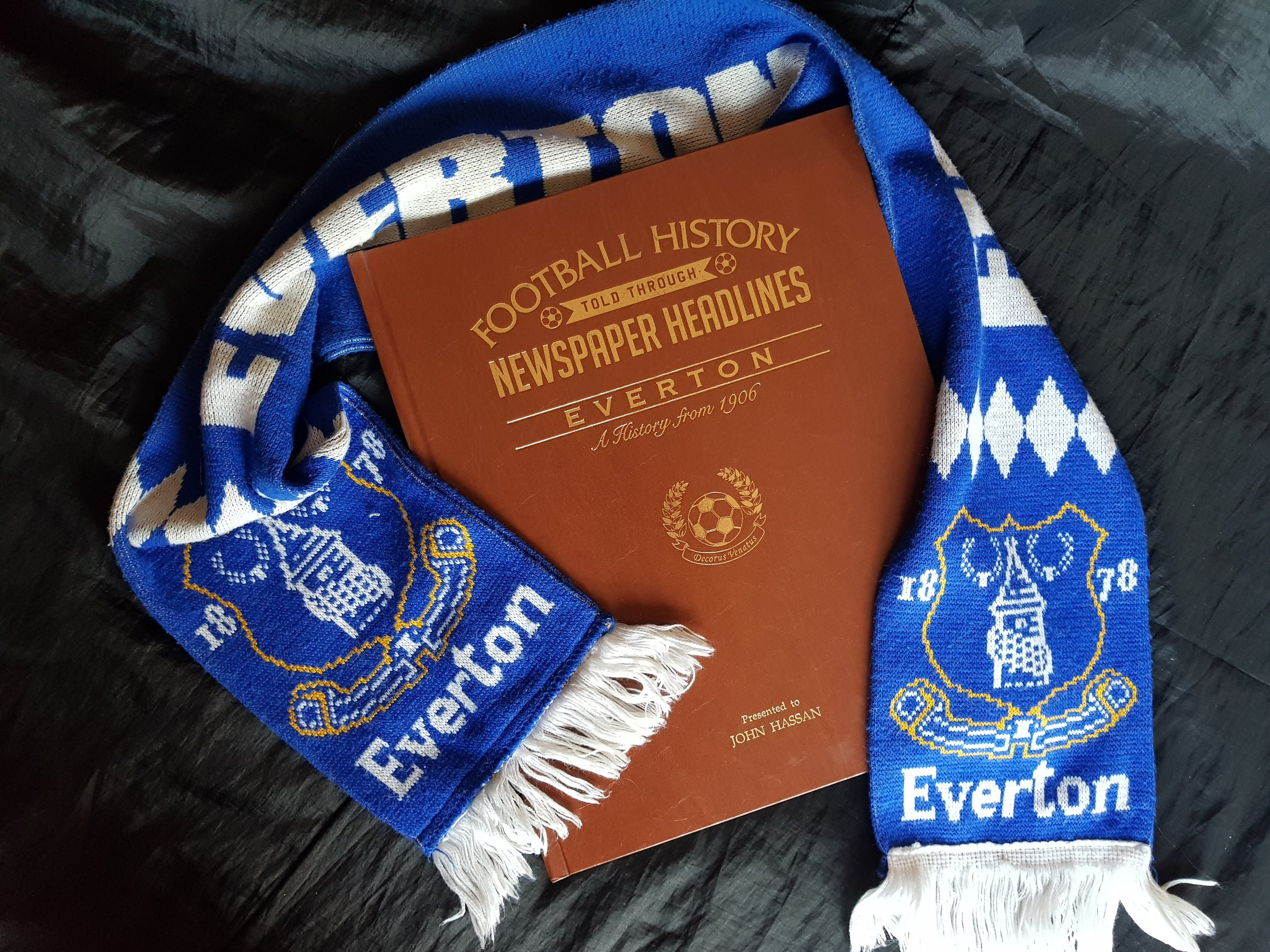 Everton Football History Newspaper Book Me Becoming Mum's Christmas Gift Ideas for Him