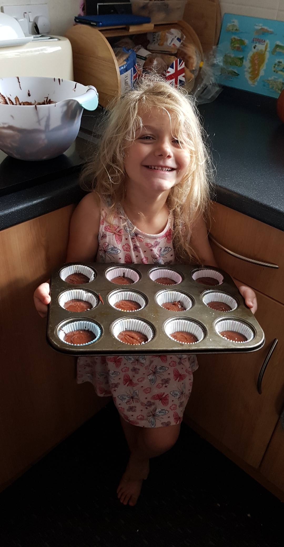 Ready for baking chocolate brownie cupcakes