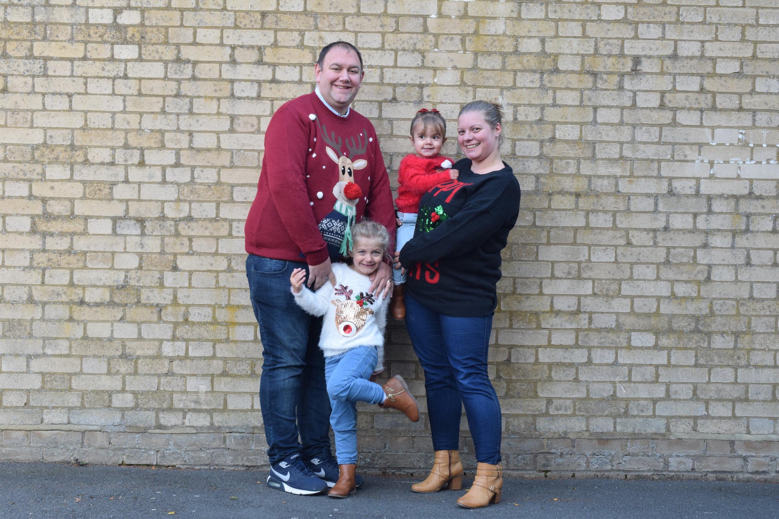 Me Becoming Mum family Christmas photo