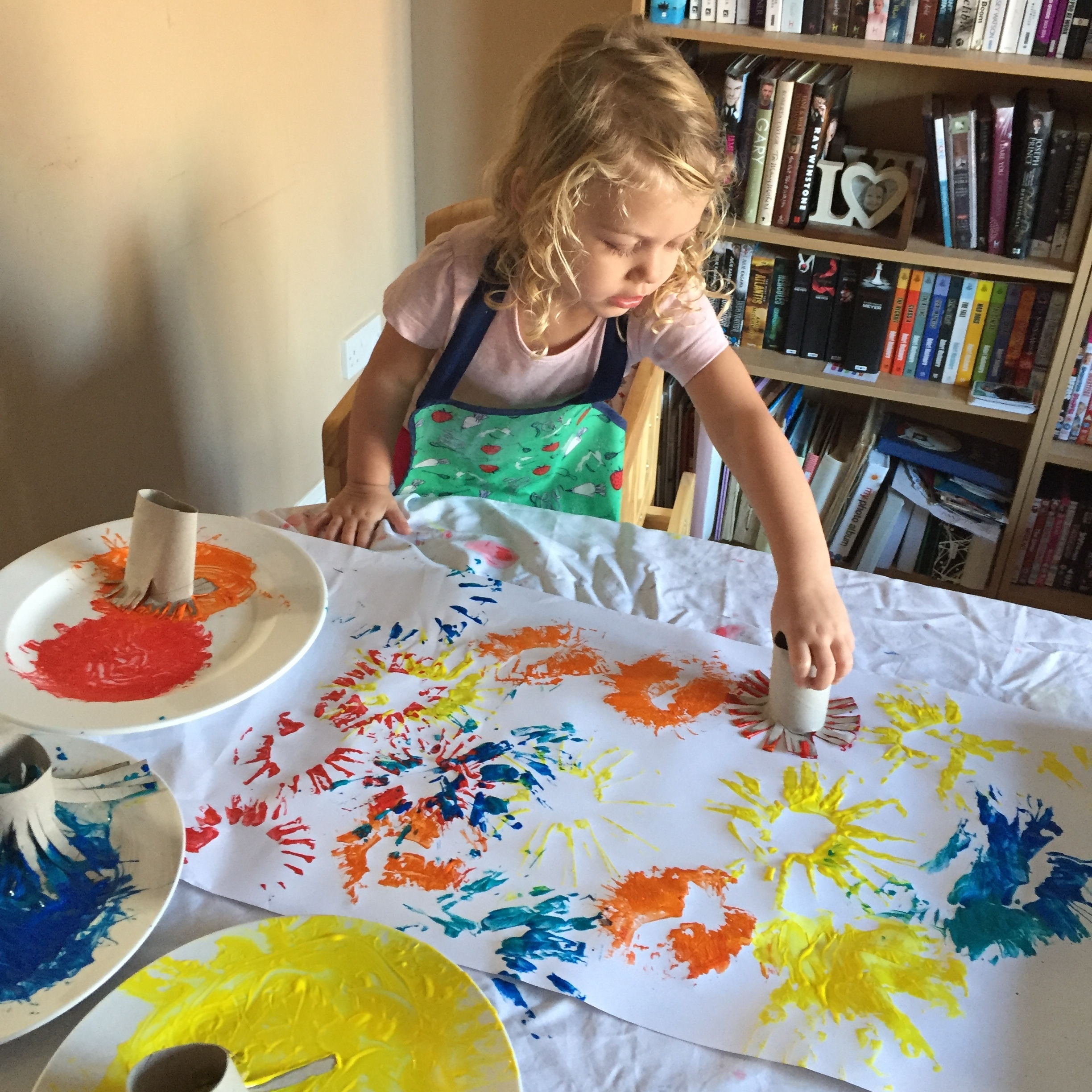 Fireworks painting craft ideas for Bonfire Night