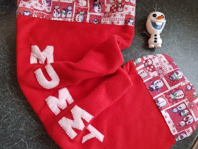Handmade Mummy stocking