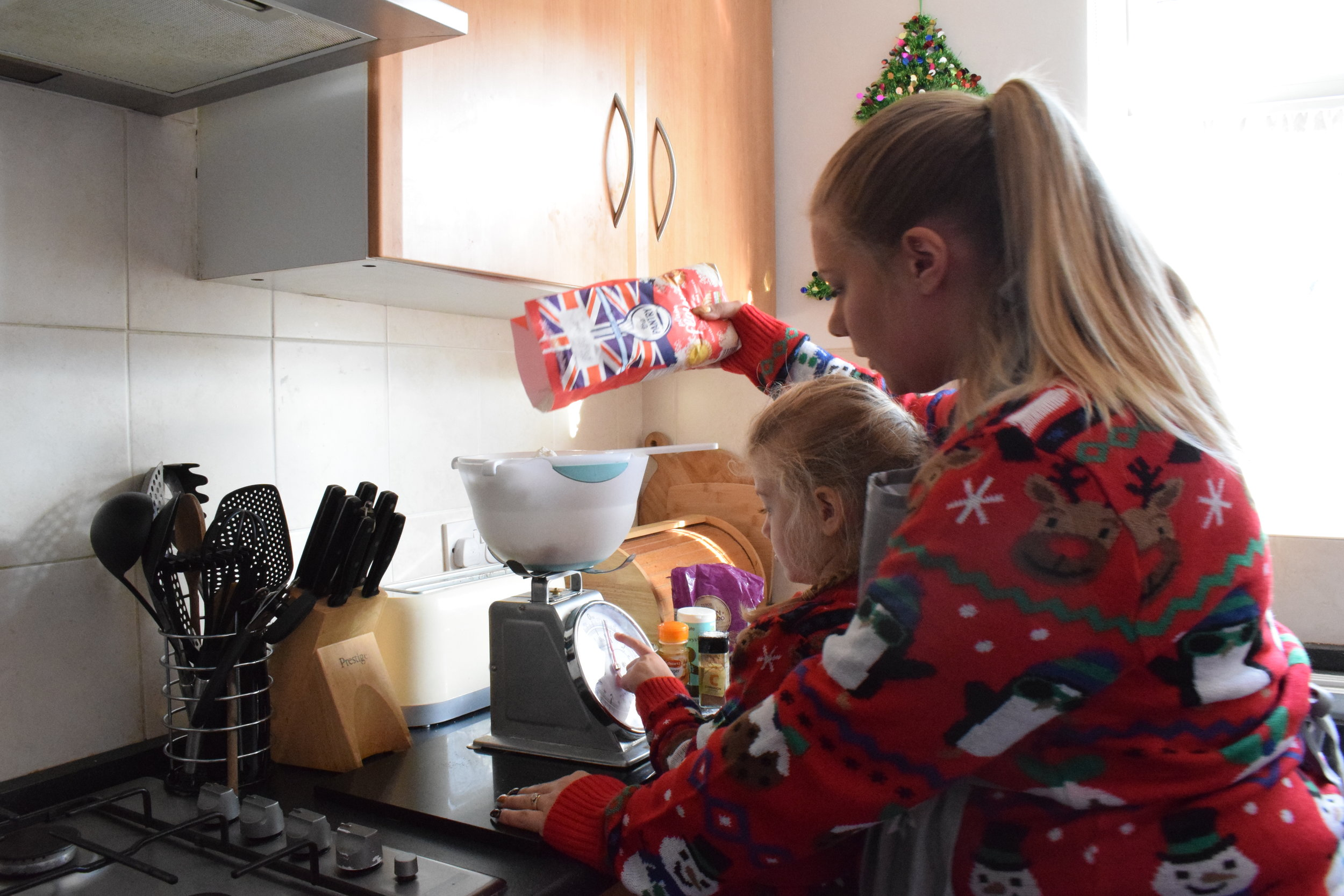 Baking gingerbread cookies with Squidgy