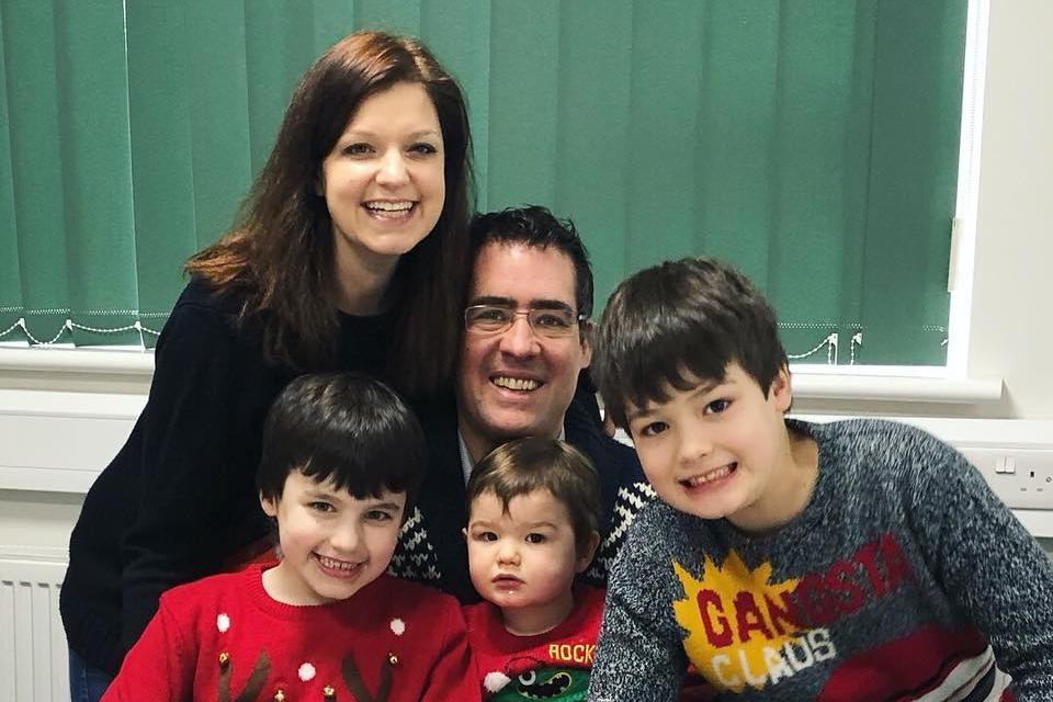 Filipa from Gourmet Mum and her family