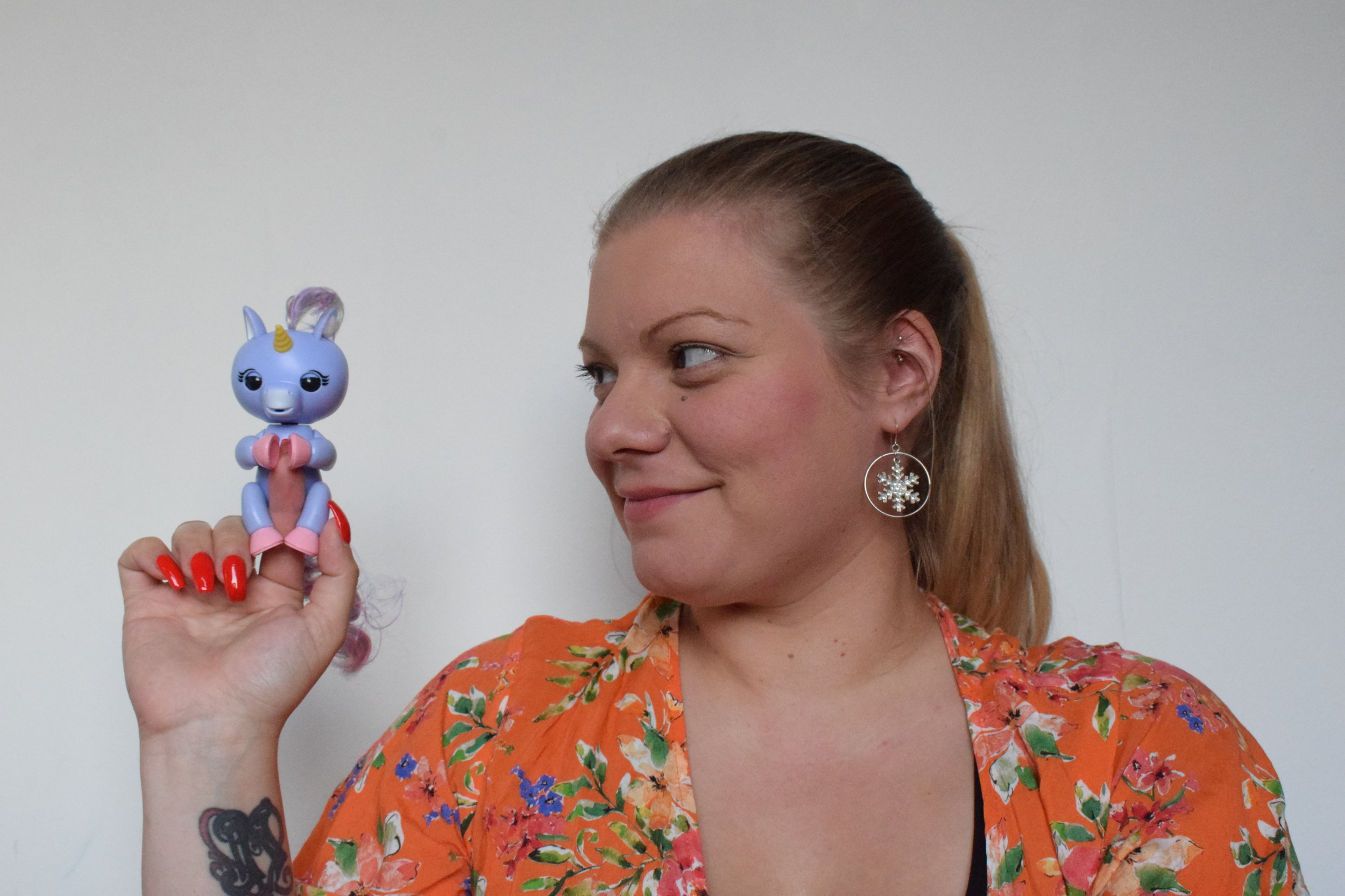 Fingerlings Alika the purple baby unicorn Me Becoming Mum's Stocking Fillers for Under 5s