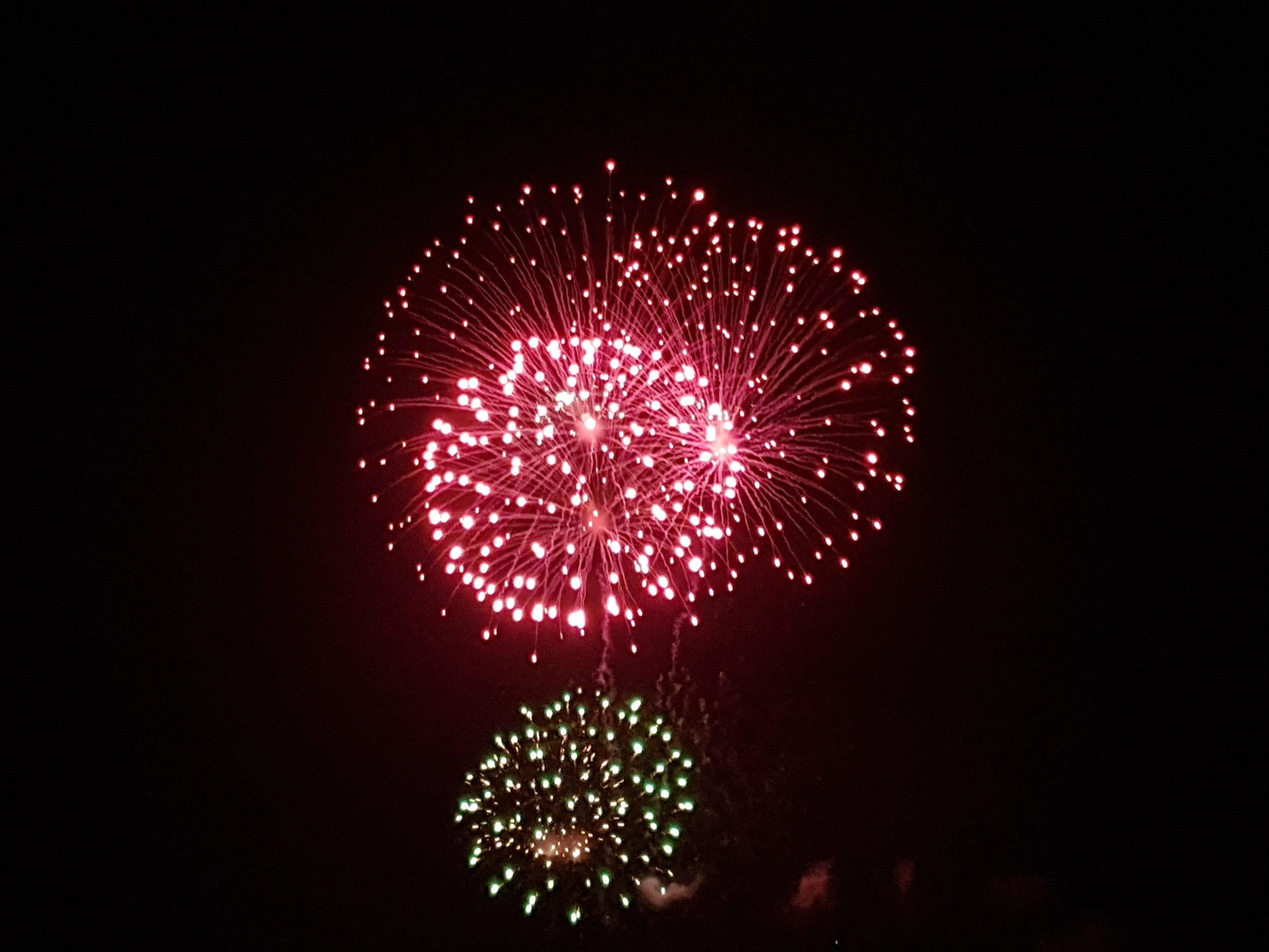 Fireworks at Cassiobury Park, Watford