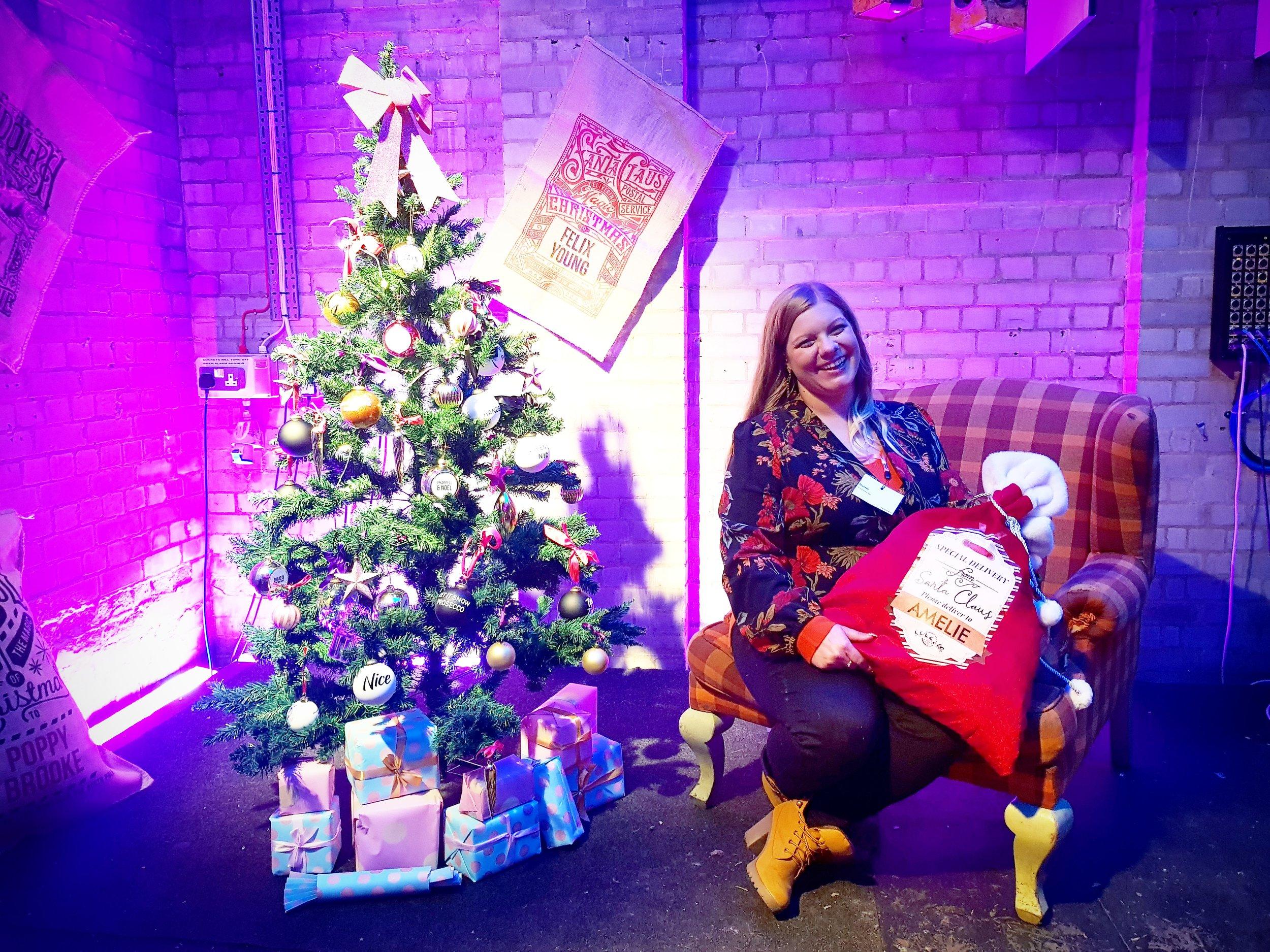 Naomi from Me Becoming Mum at Prezzybox Jingle Mingle