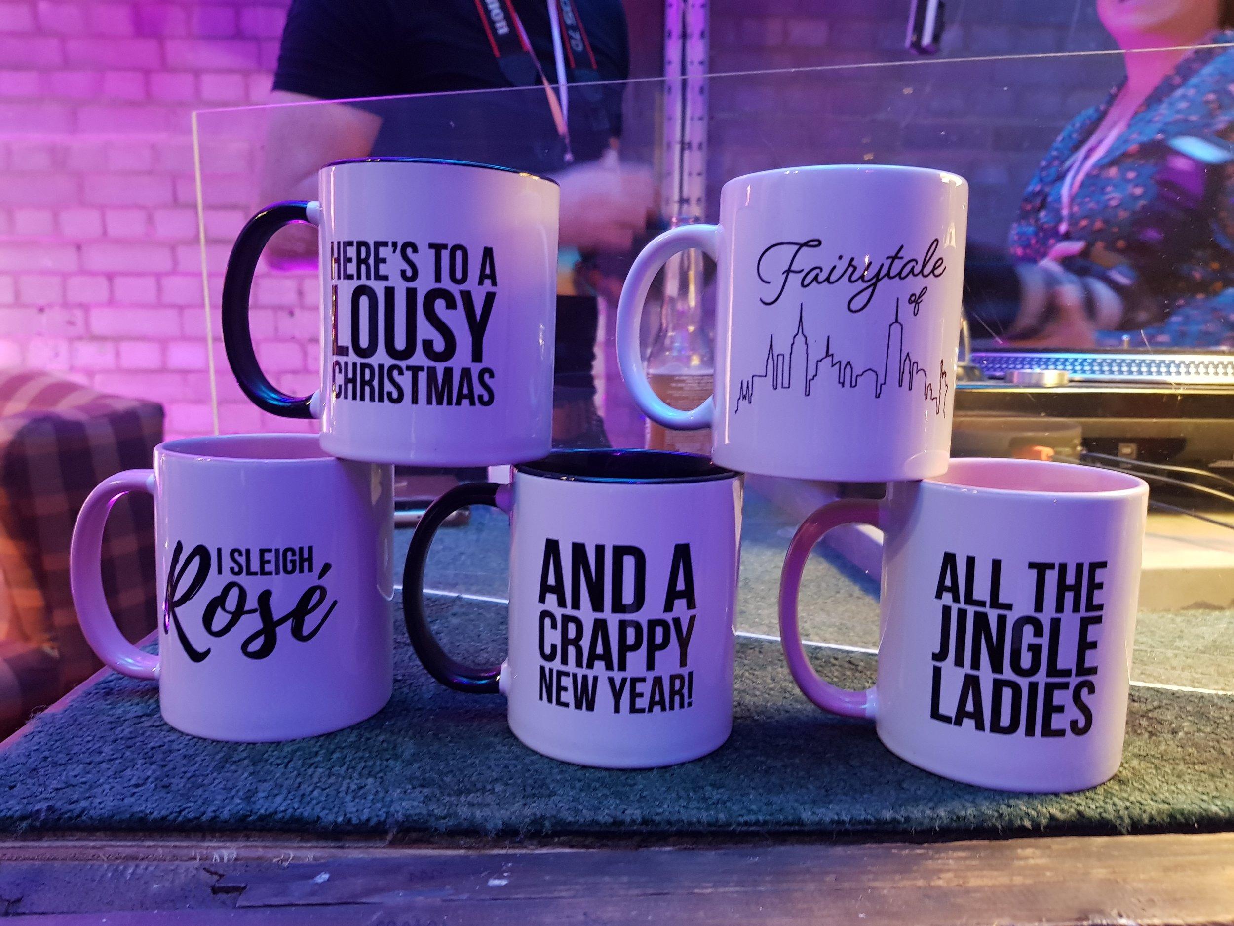 Prezzybox Jingle Mingle pun mugs