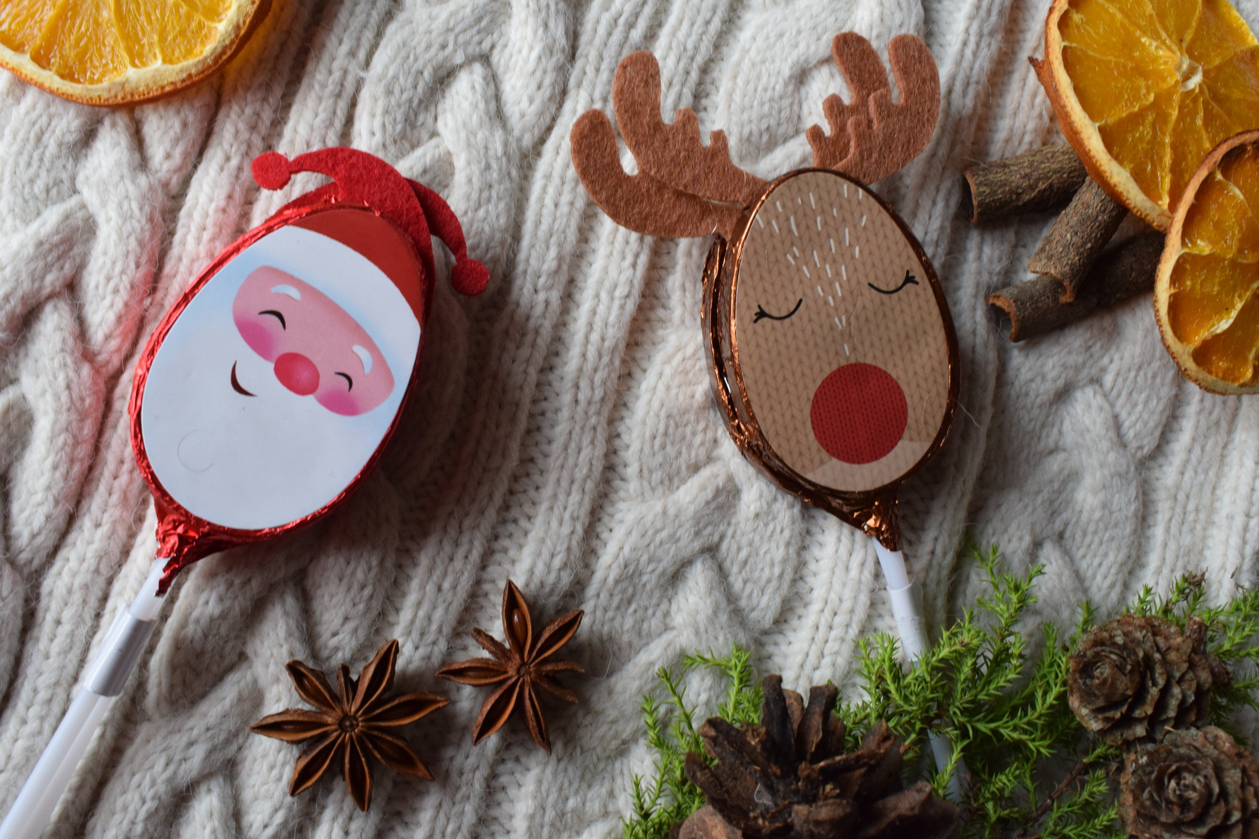 Primark Santa and Reindeer Chocolate Lolly Pops Me Becoming Mum's Stocking Fillers for Under 5s