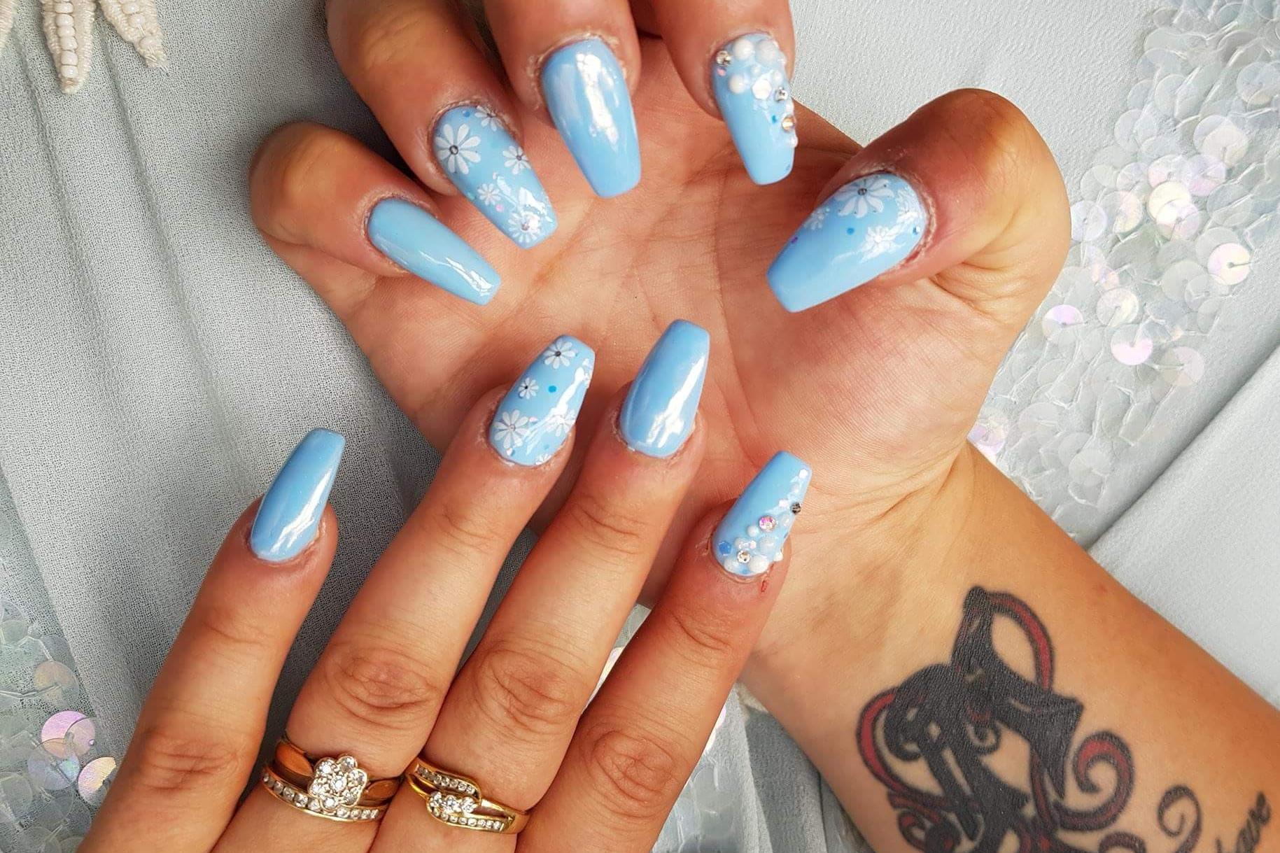 Beautiful nails by Saj from Five Star Nails, Watford