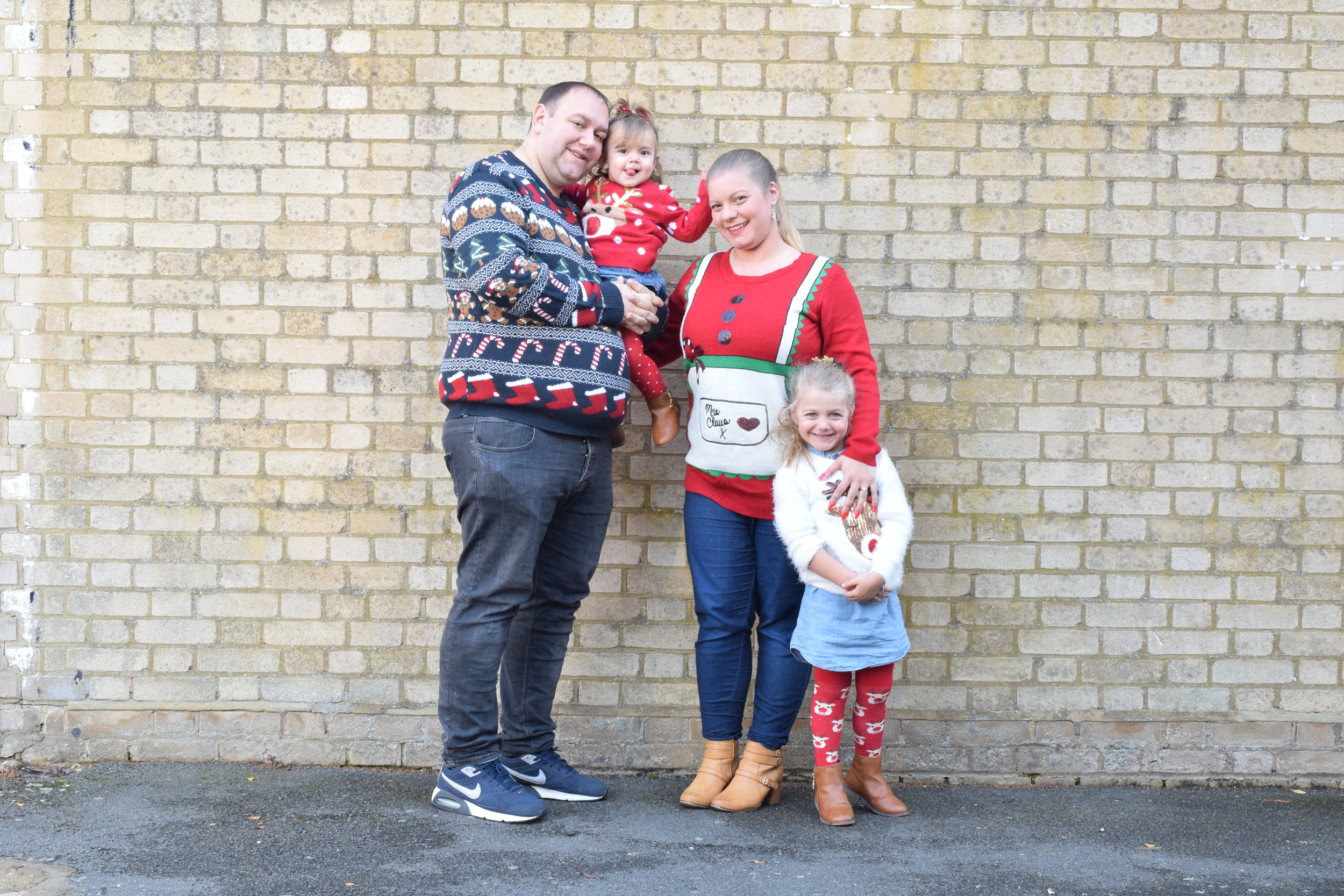 My family in Christmas jumpers