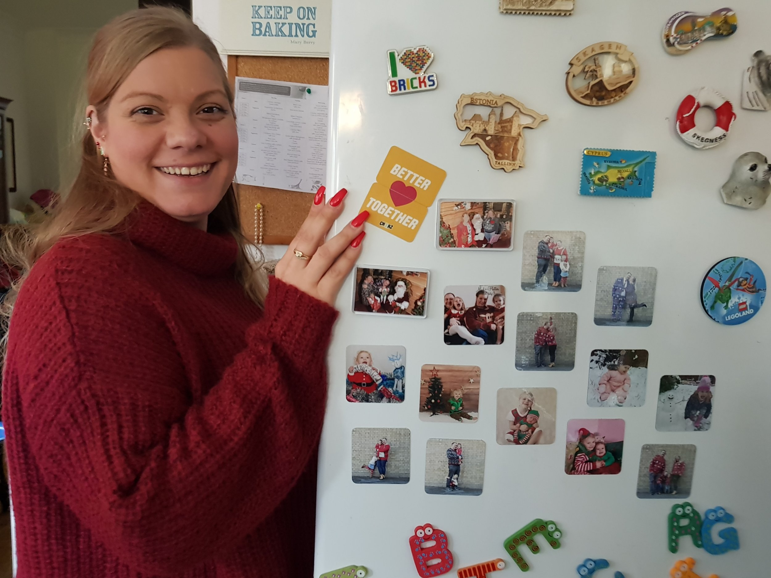 Christmas photo gift fridge magnets