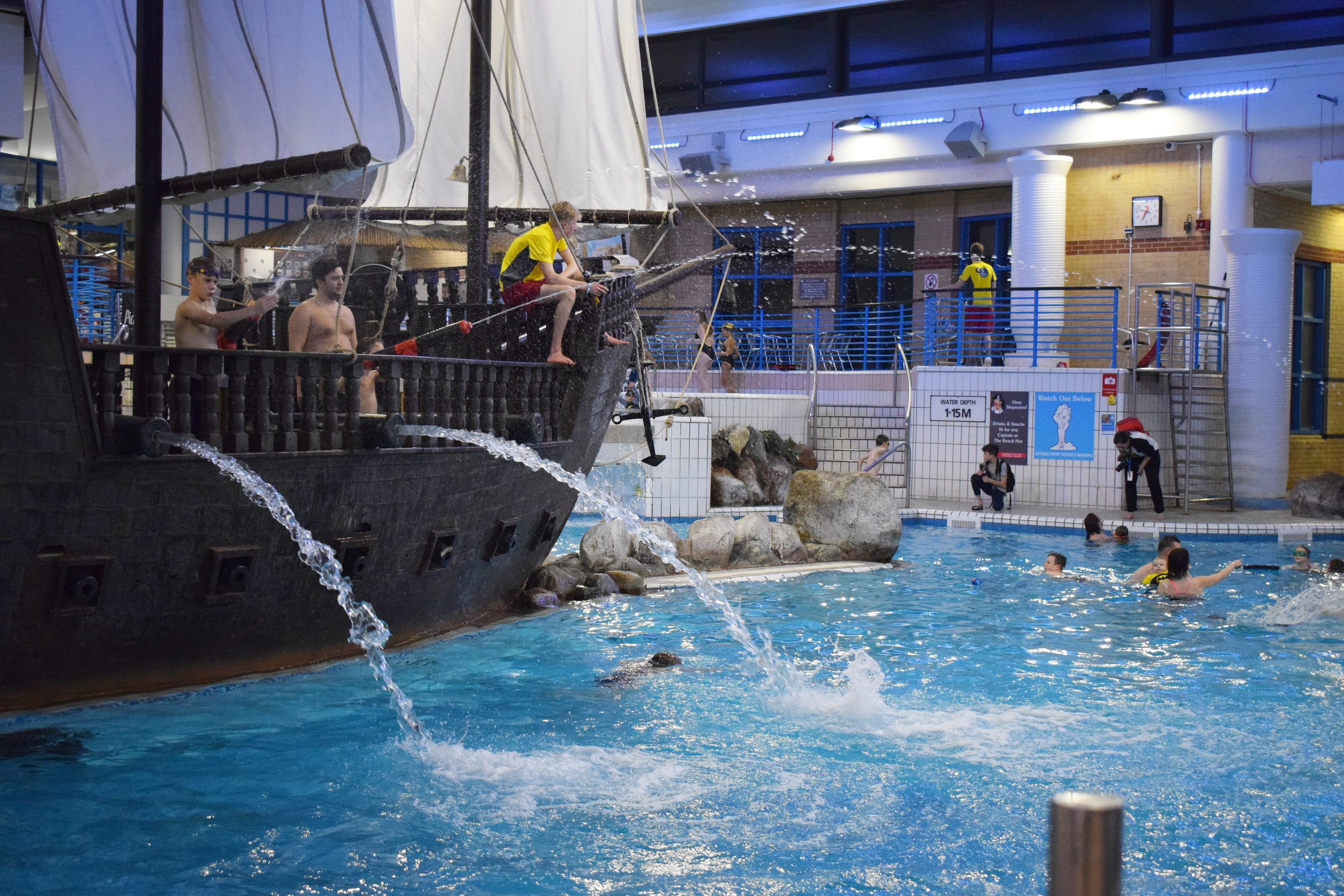 Coral Reef Waterworld in Bracknell Pirate Ship Cannons