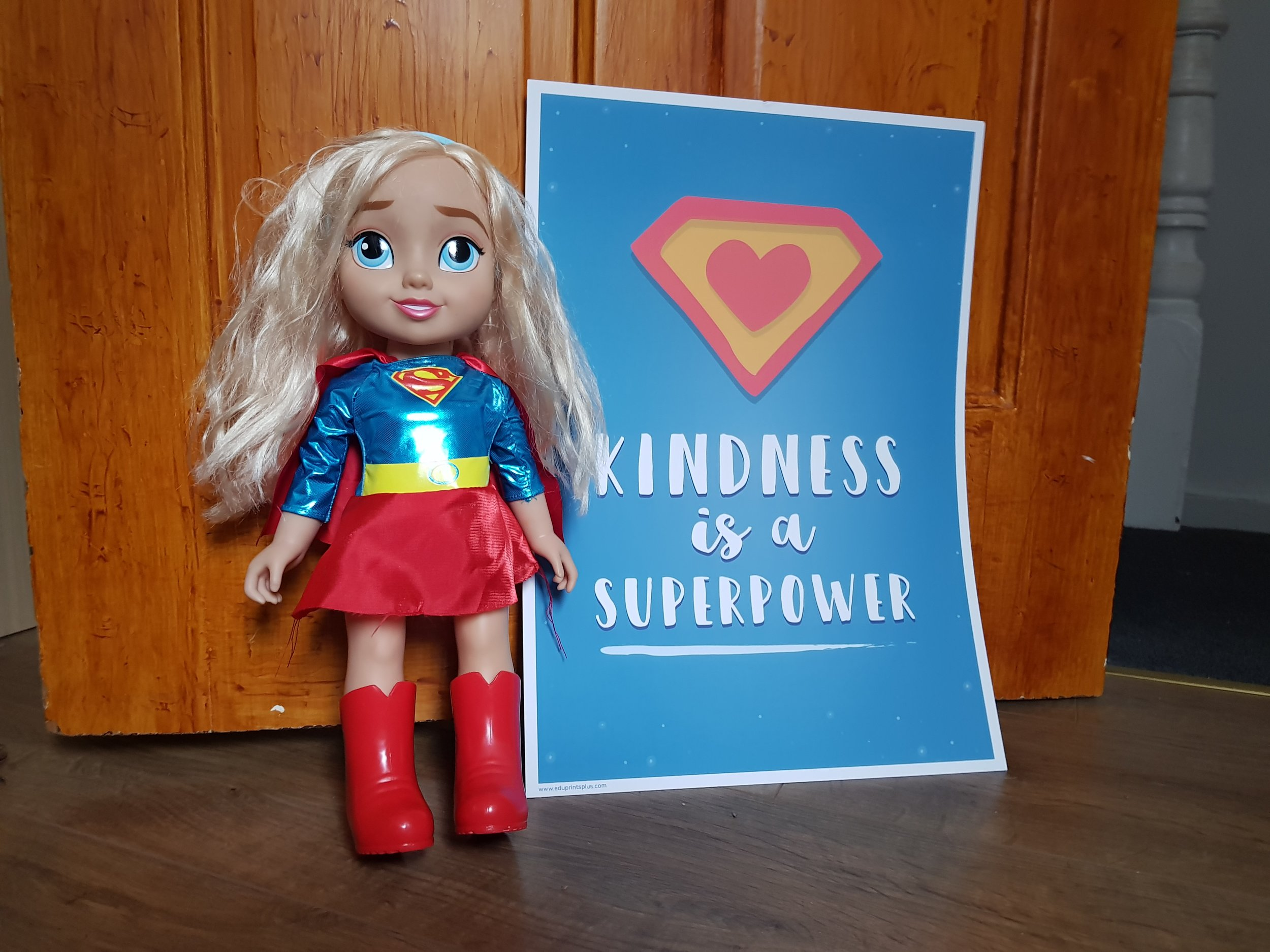 "Edu Prints Plus children's wall print ""Kindness is a superpower"" quote"