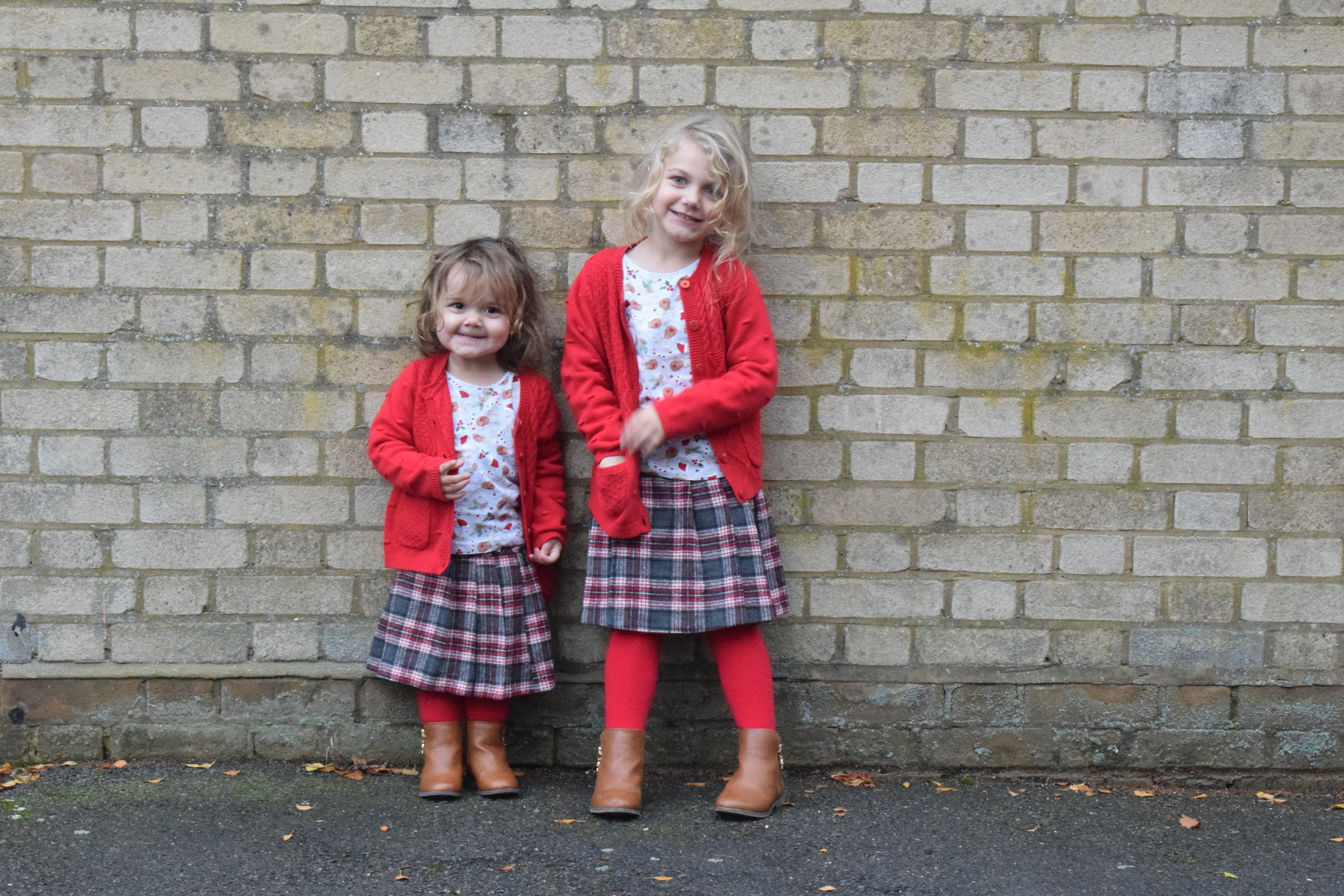 Matching tartan outfits from Sainsbury's