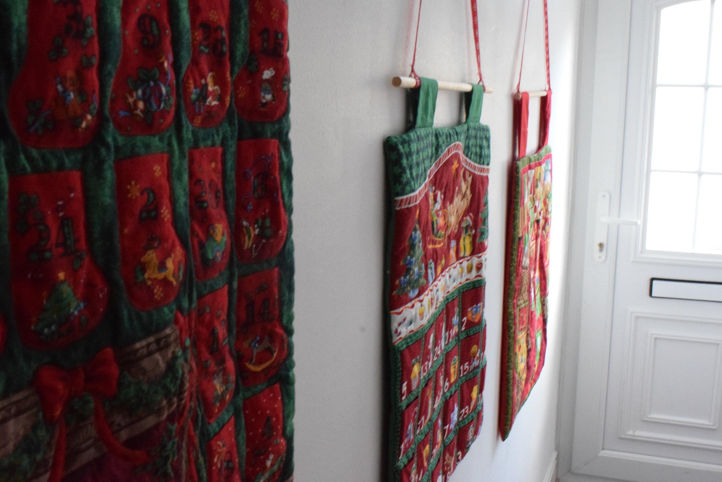 Handmade DIY advent calendars