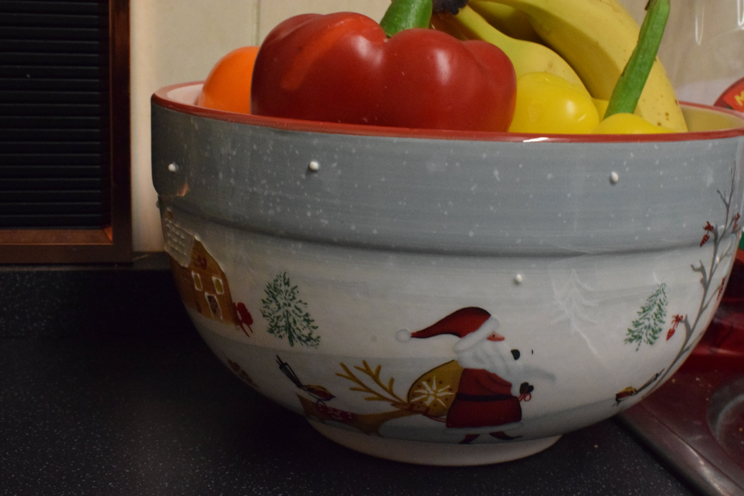 Christmas fruit bowl