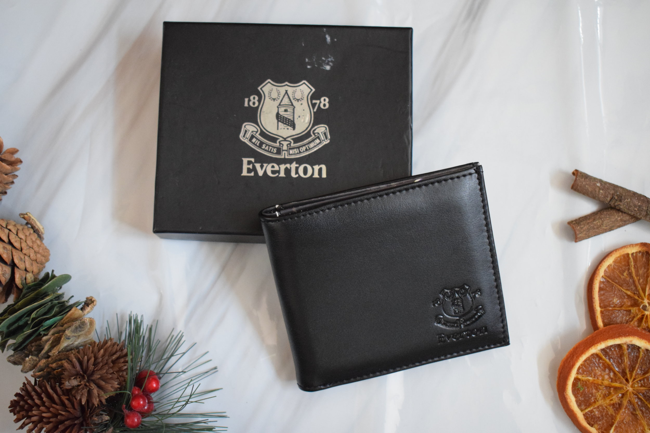Everton leather wallet Me Becoming Mum's Stocking Fillers for Him