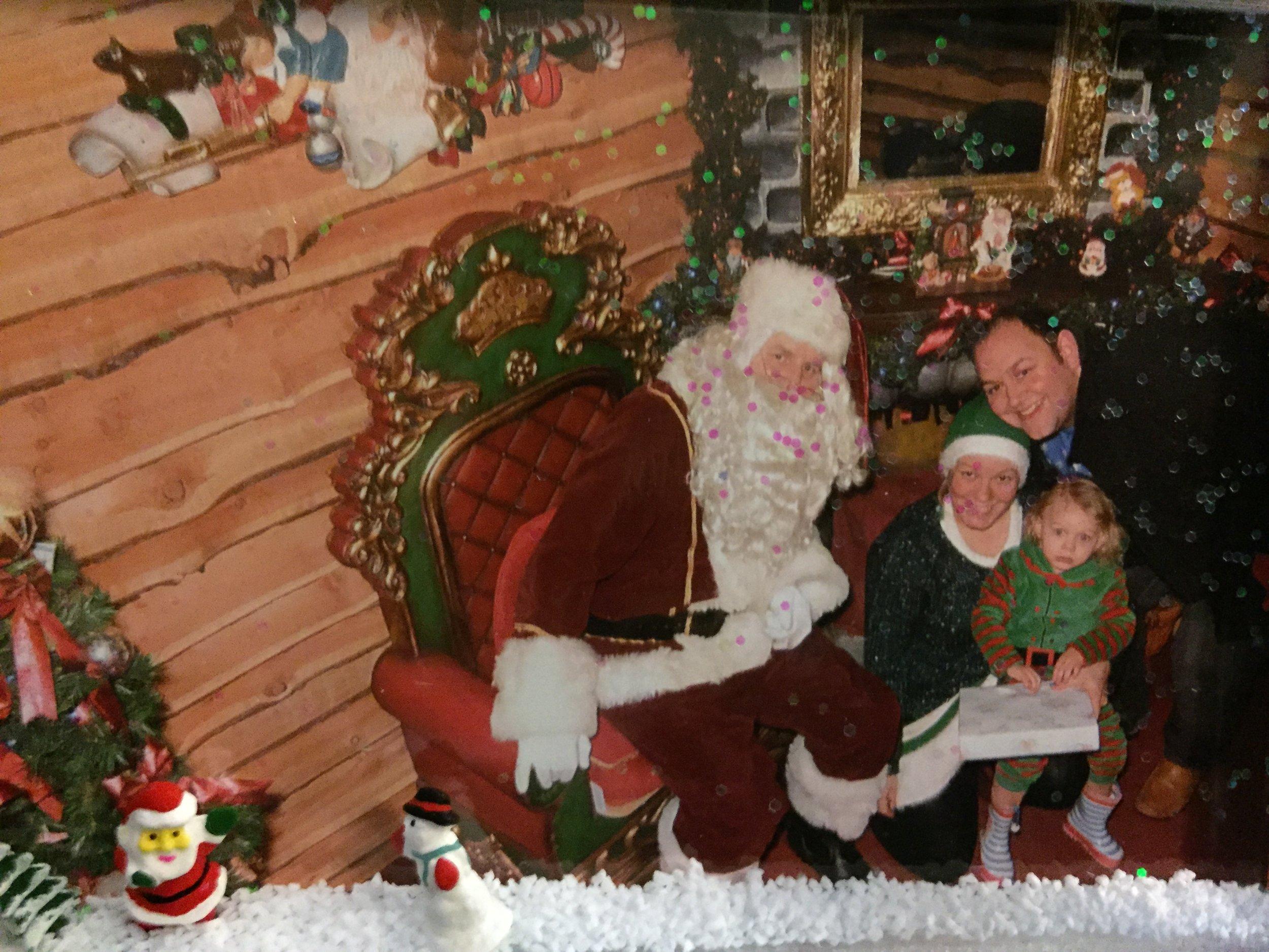 Visiting Santa at Baytree Winter Wonderland