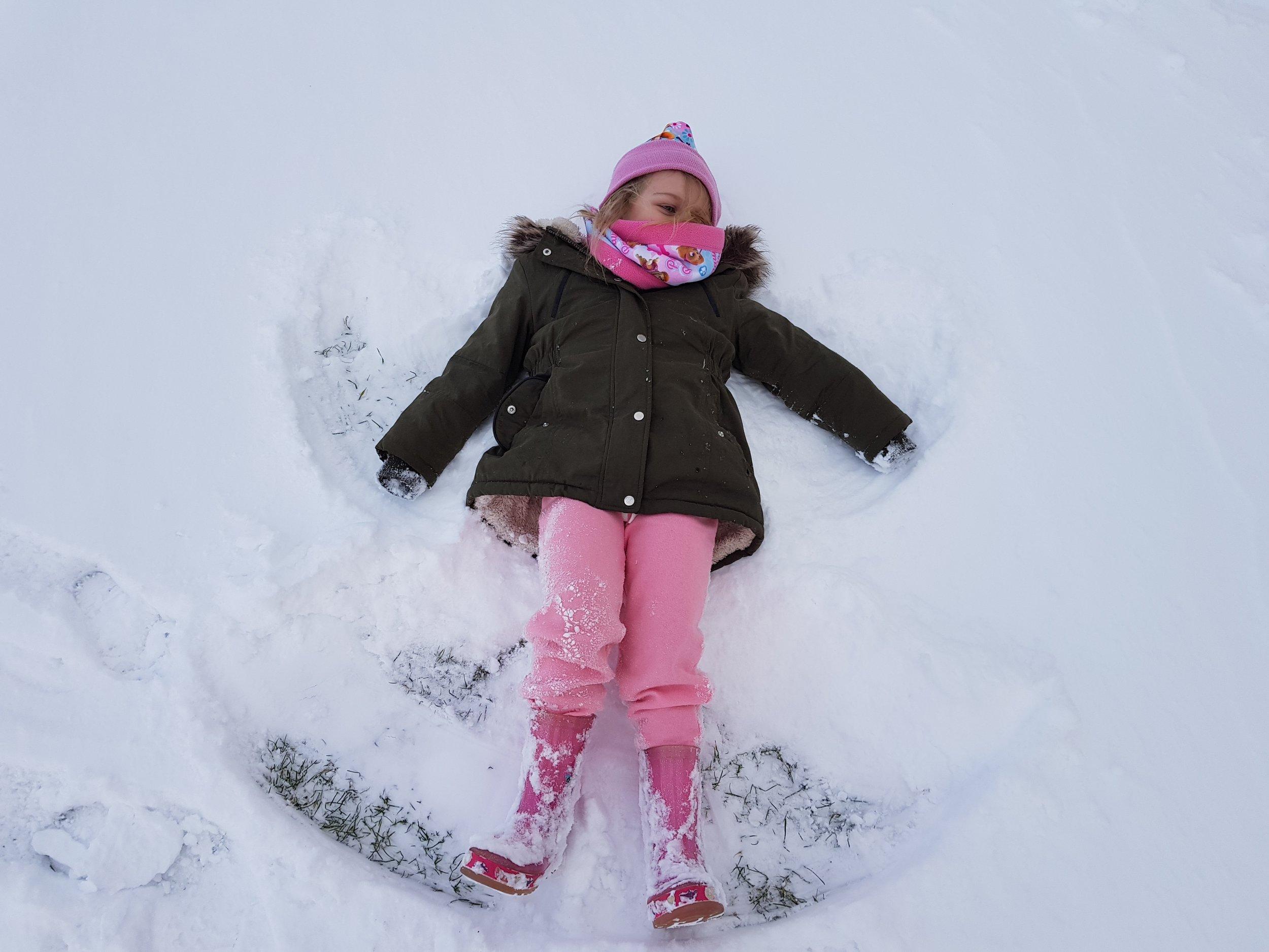 Snowy beach holiday