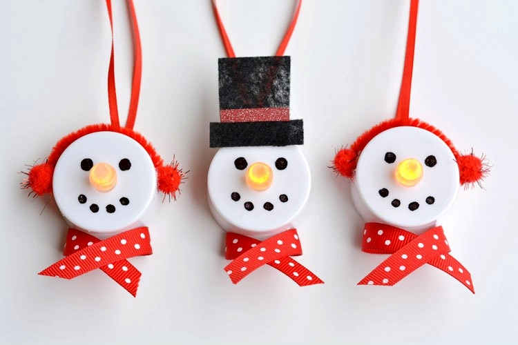 Tealight snowmen