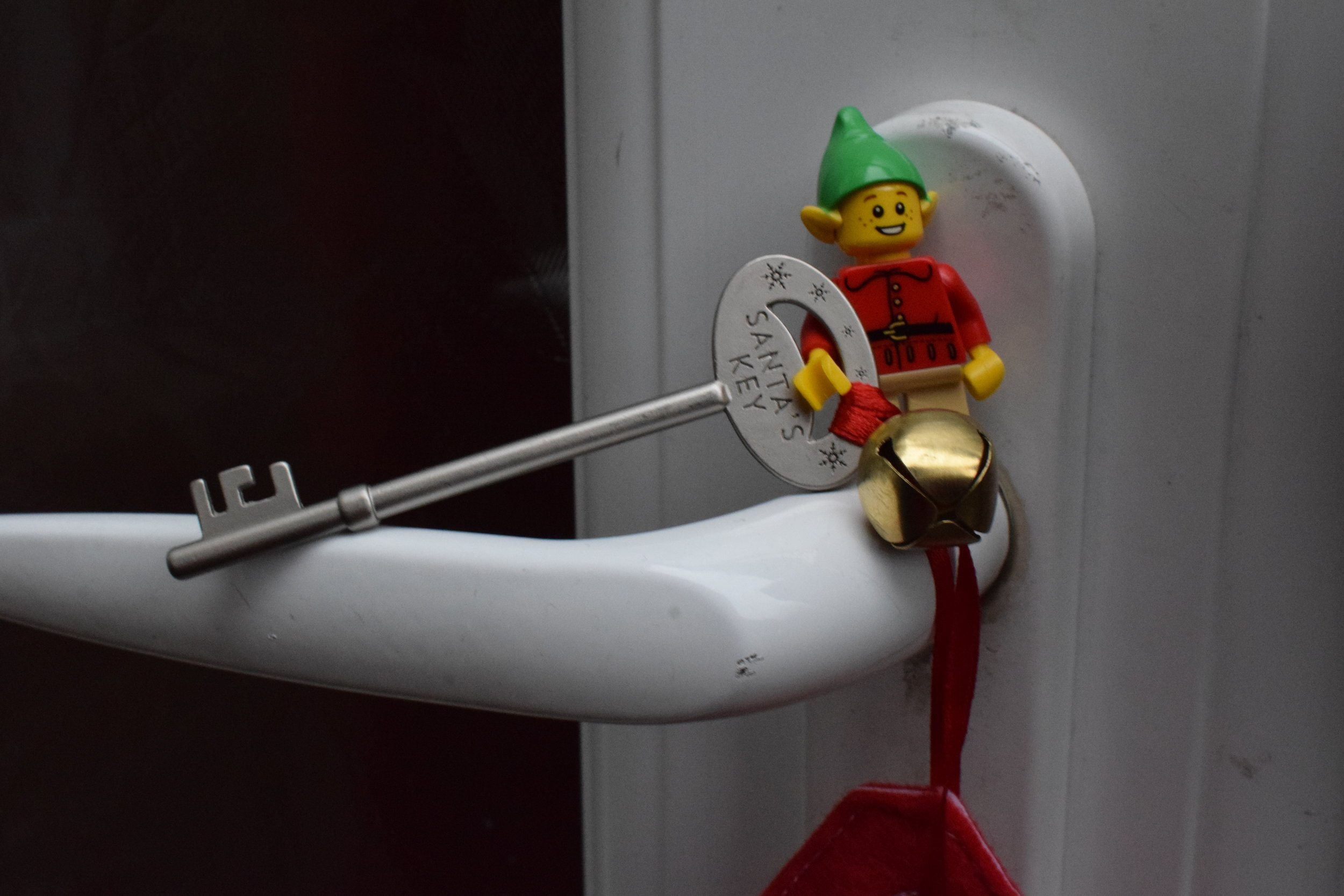 Lego elf and Santa's magic key