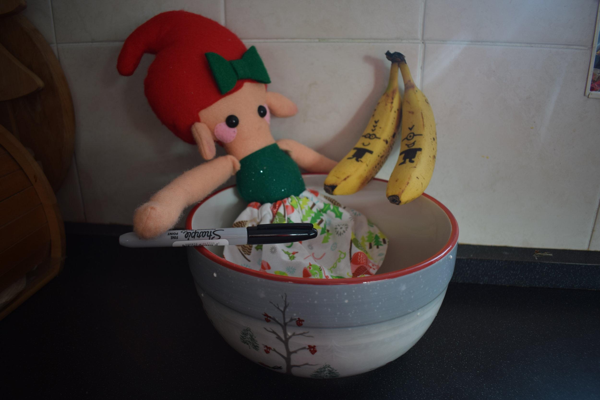 Elf on the Shelf Minion Bananas