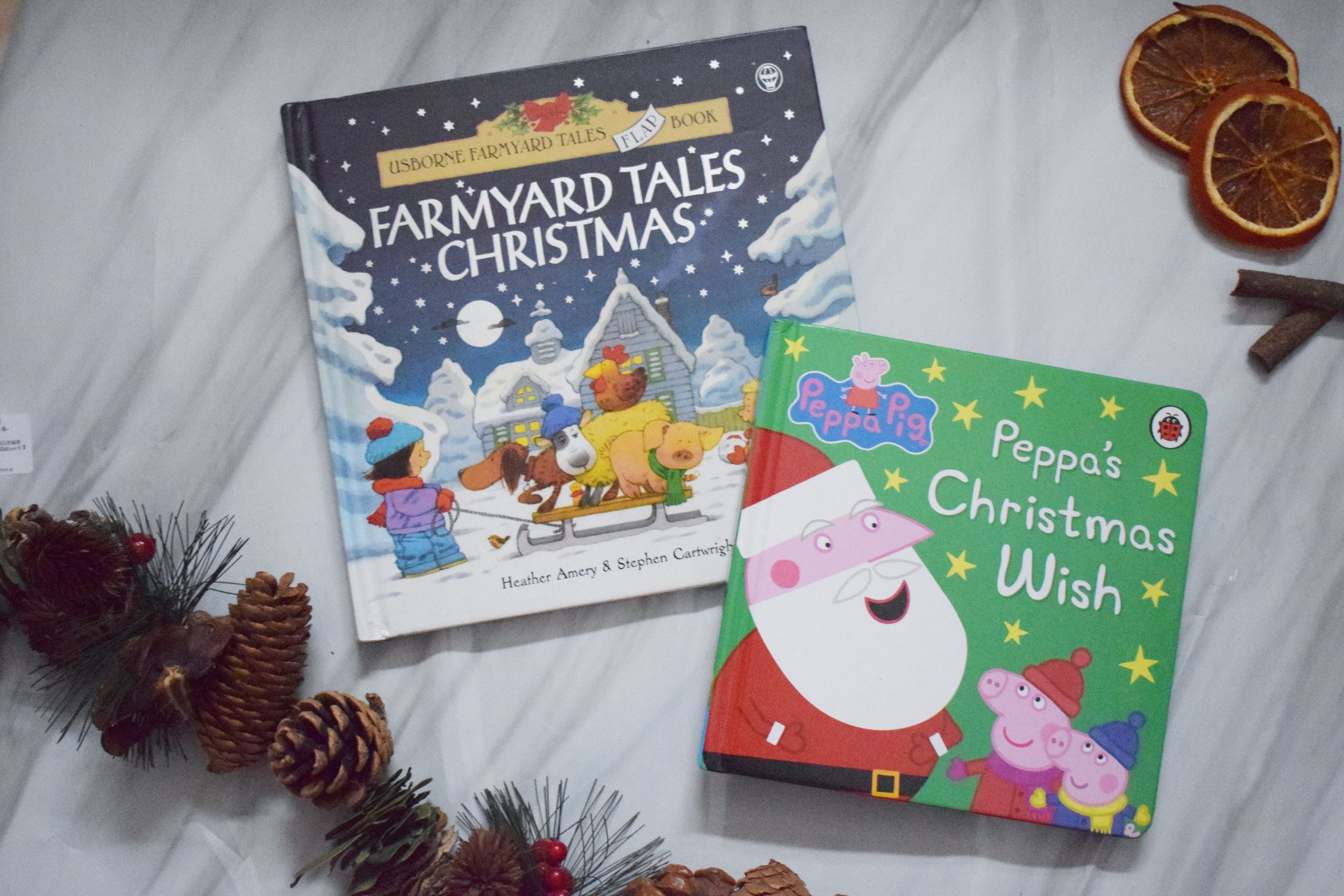 Christmas books from Usborne and Peppa Pig