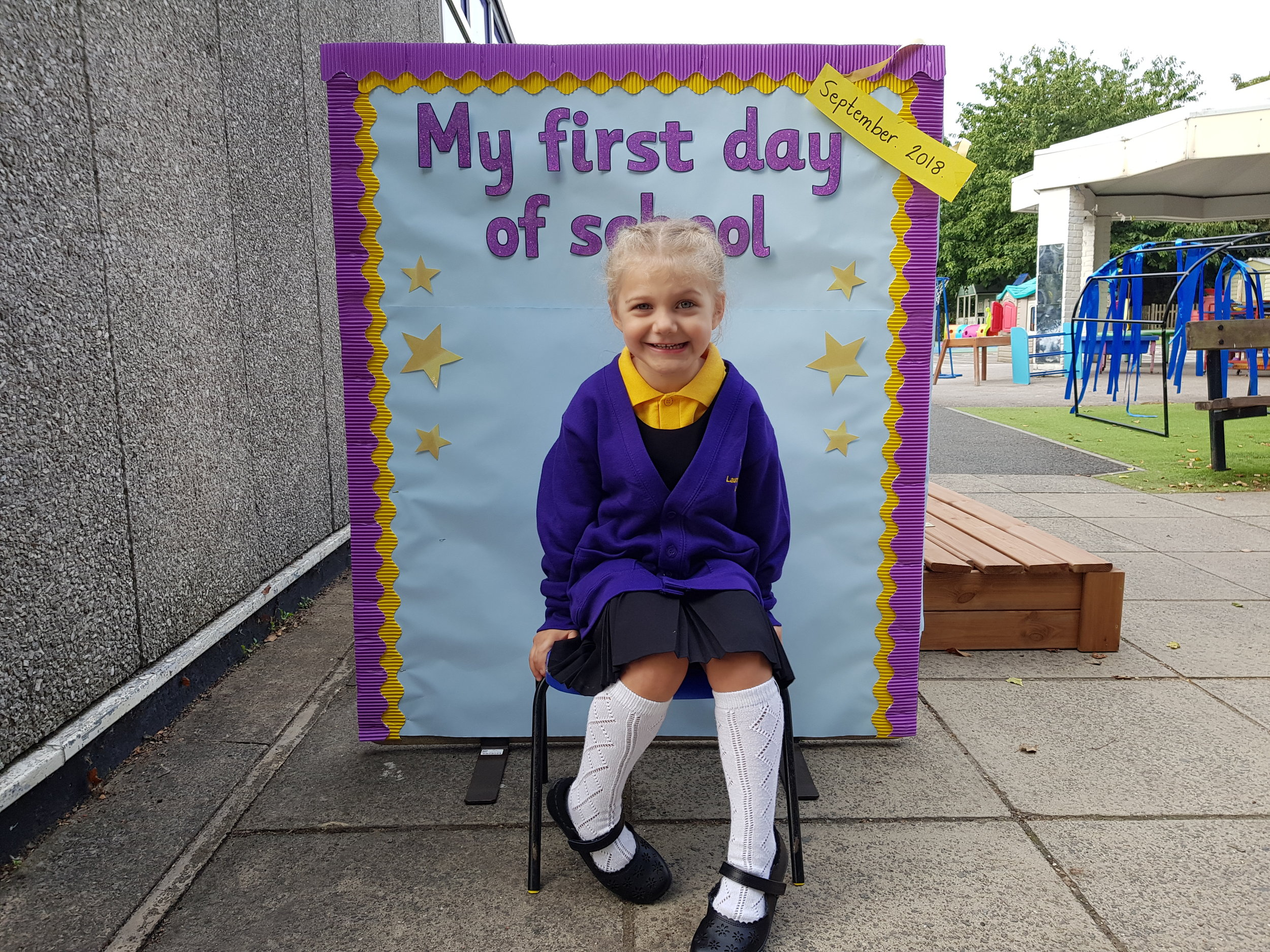 Squidgy's first day of school 2018