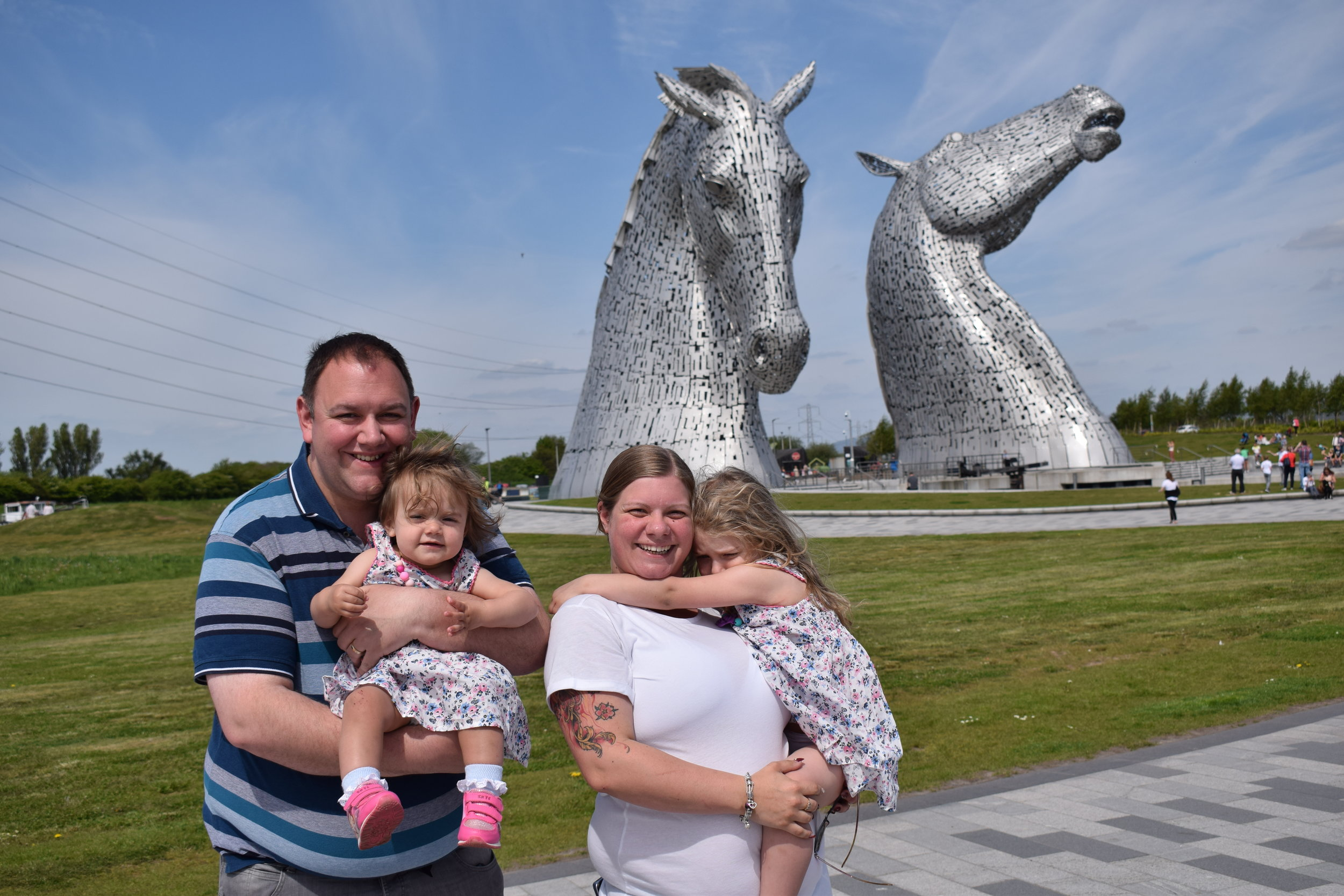 Visiting the Kelpies in Scotland