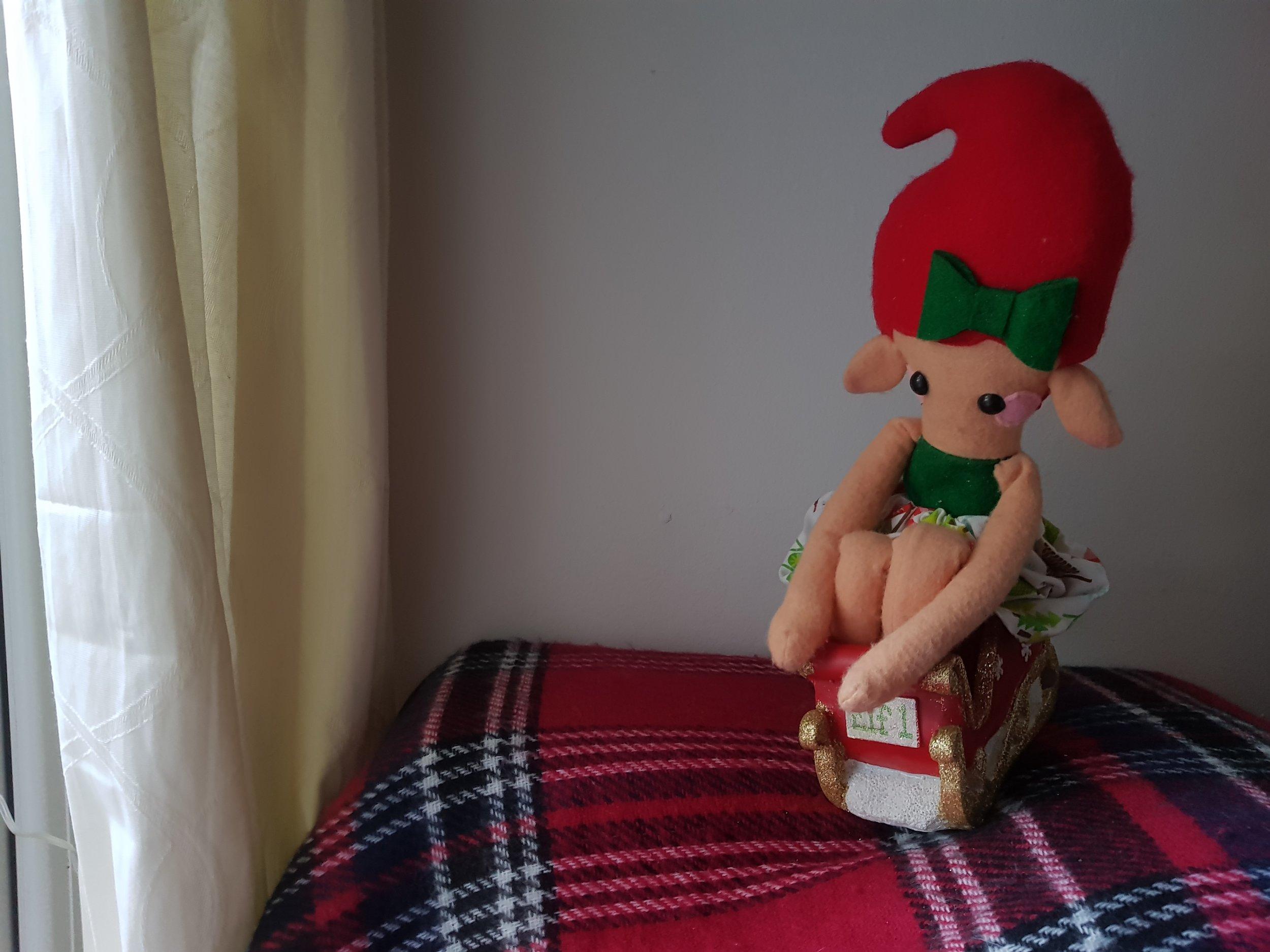 Elf on the Shelf sleigh ride