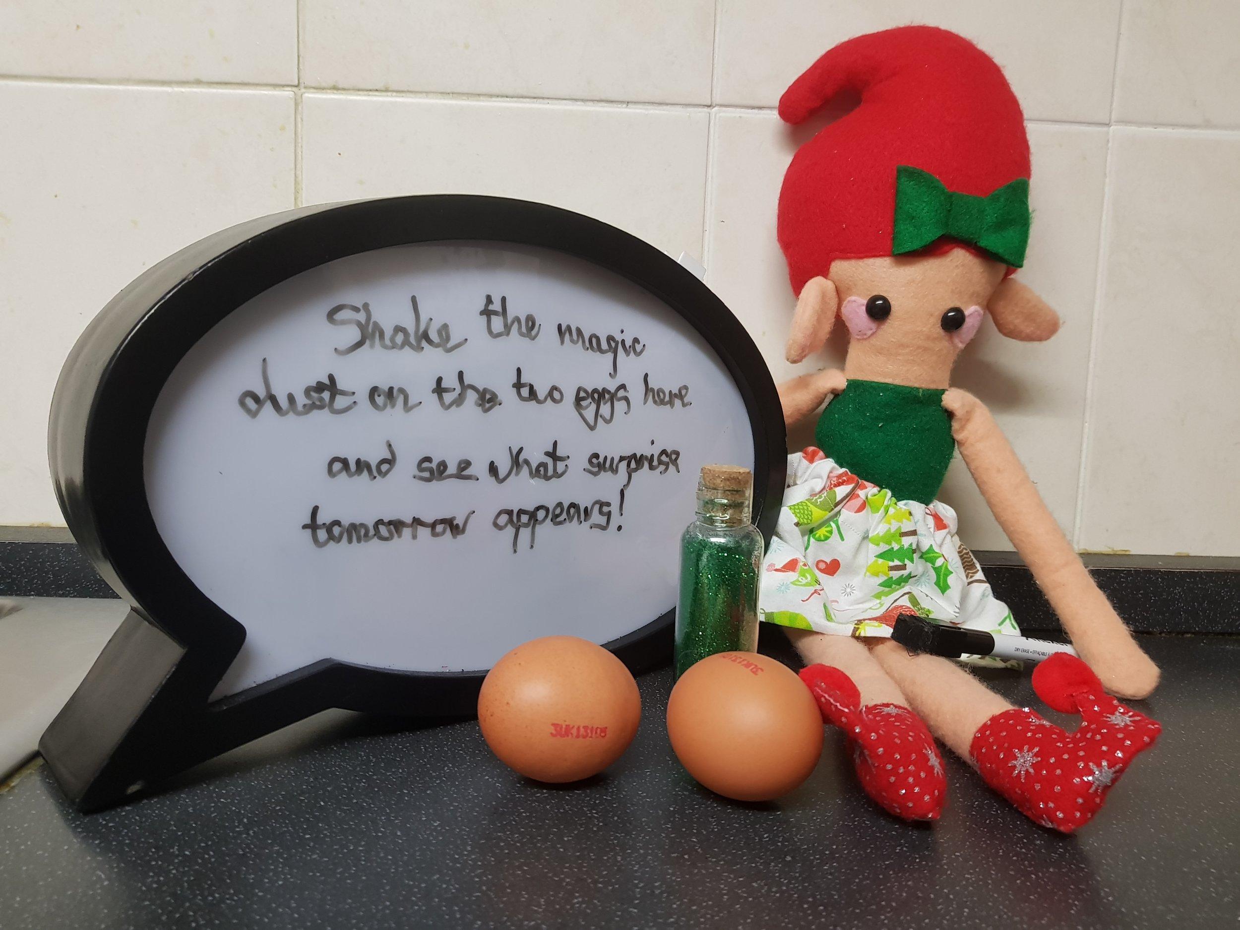 Elf on the Shelf magical eggs