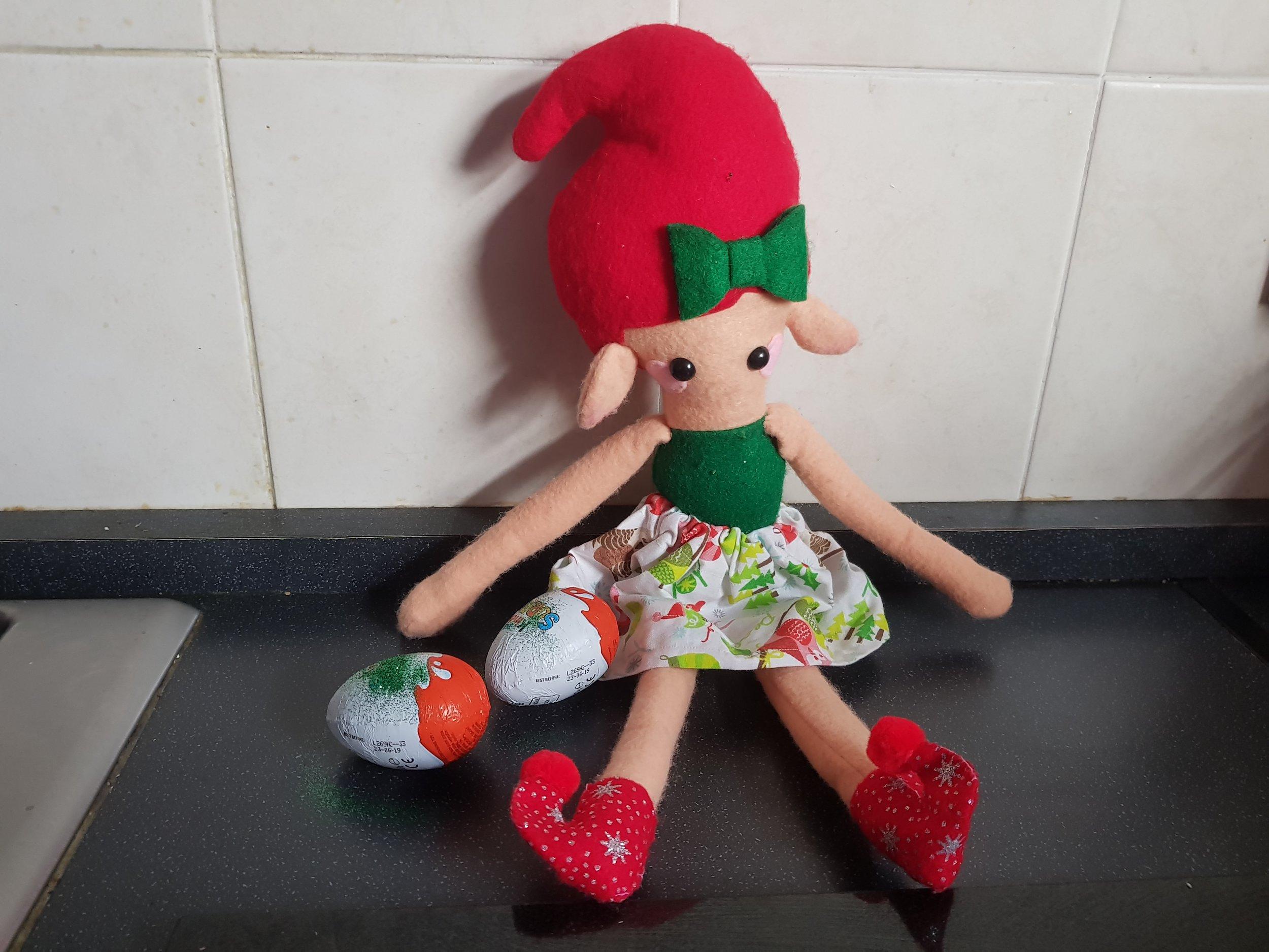 Elf on the Shelf magical eggs Kinder eggs