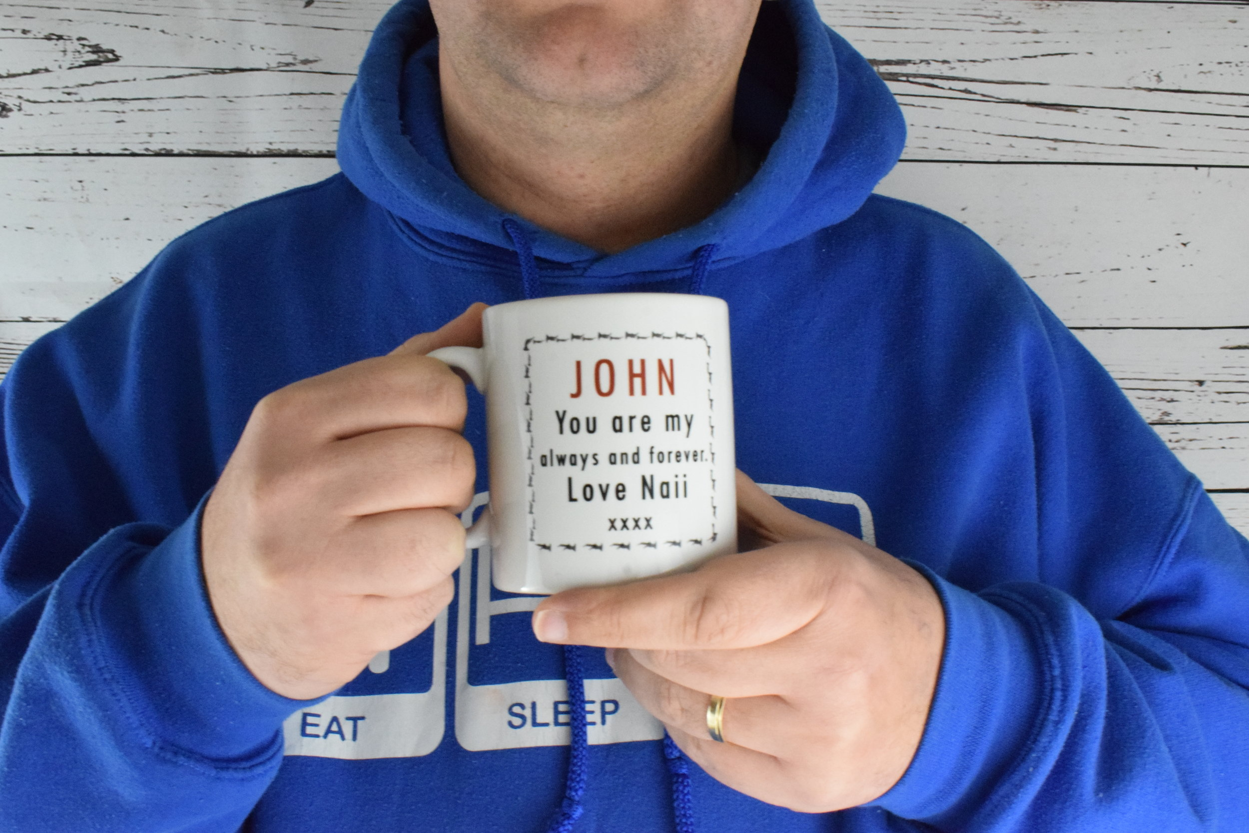 """2019 Valentine's Day gifts personalised """"A husband is for life"""" mug from The Gift Experience"""